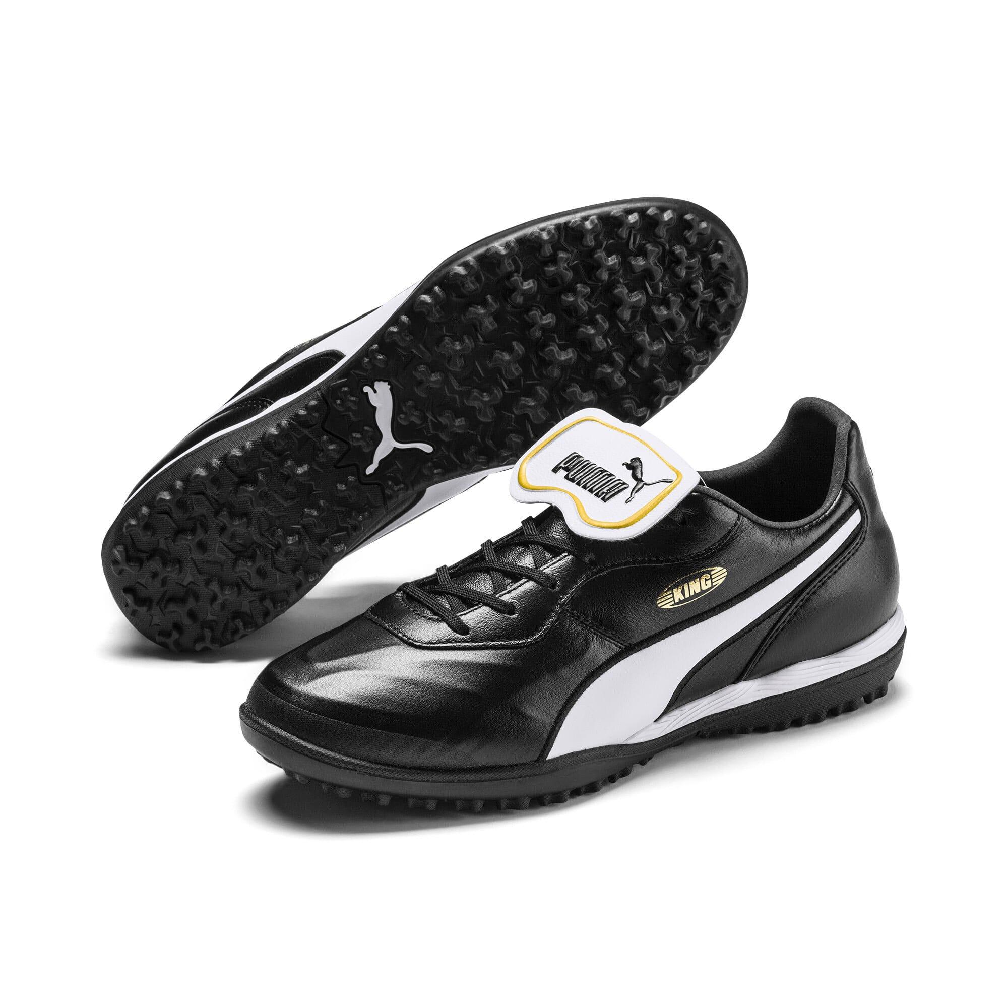 Thumbnail 3 of King Top TT Soccer Shoes, Puma Black-Puma White, medium