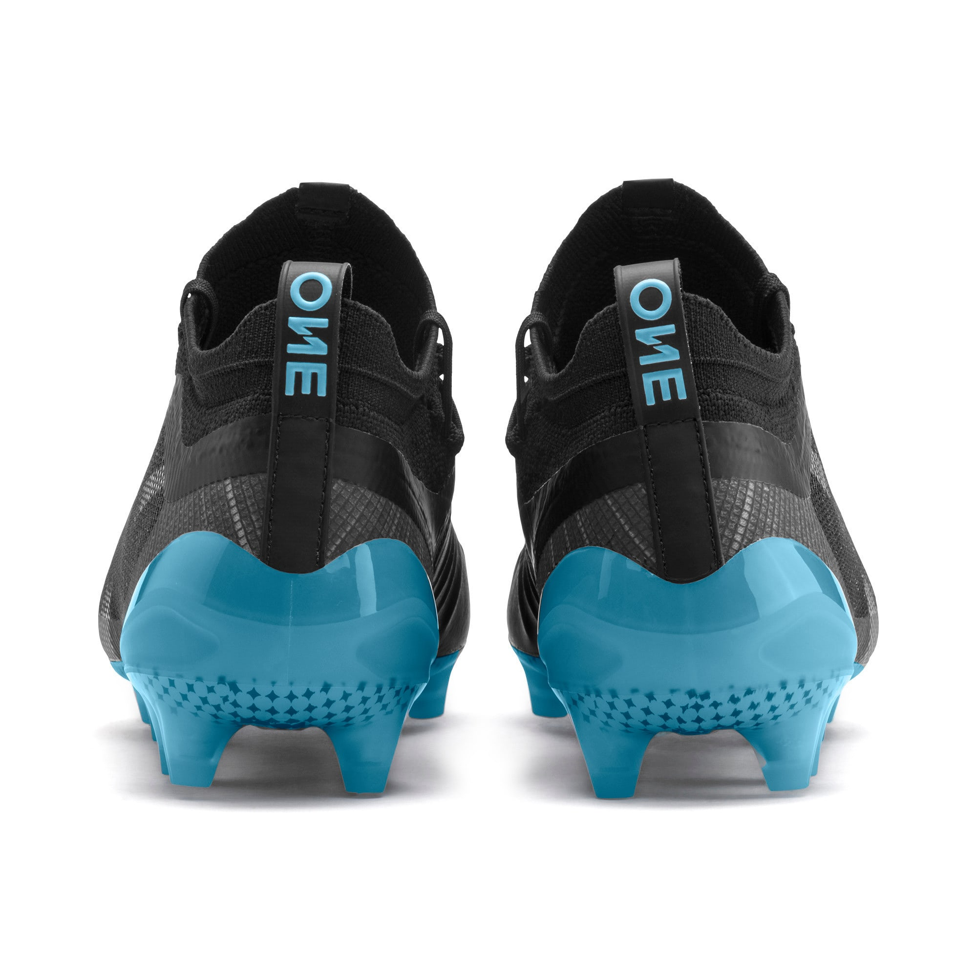 Thumbnail 4 of PUMA ONE 5.1 City FG/AG Men's Soccer Cleats, Black-Sky Blue-Silver, medium