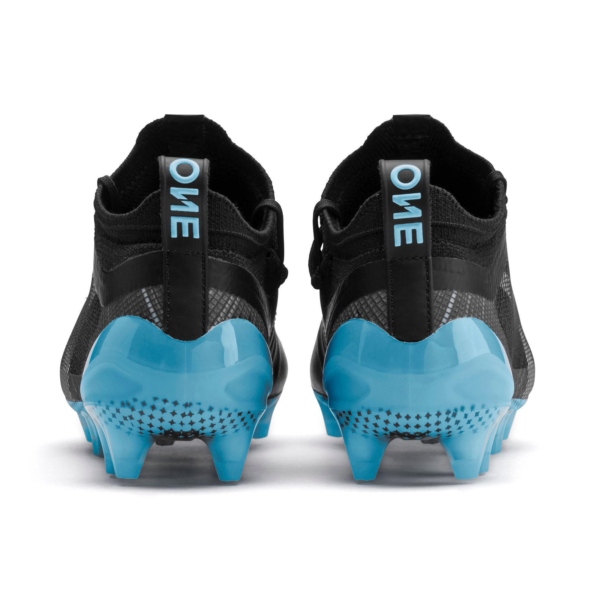 Thumbnail 3 of PUMA ONE 5.1 City Youth Football Boots, Black-Sky Blue-Puma White, medium