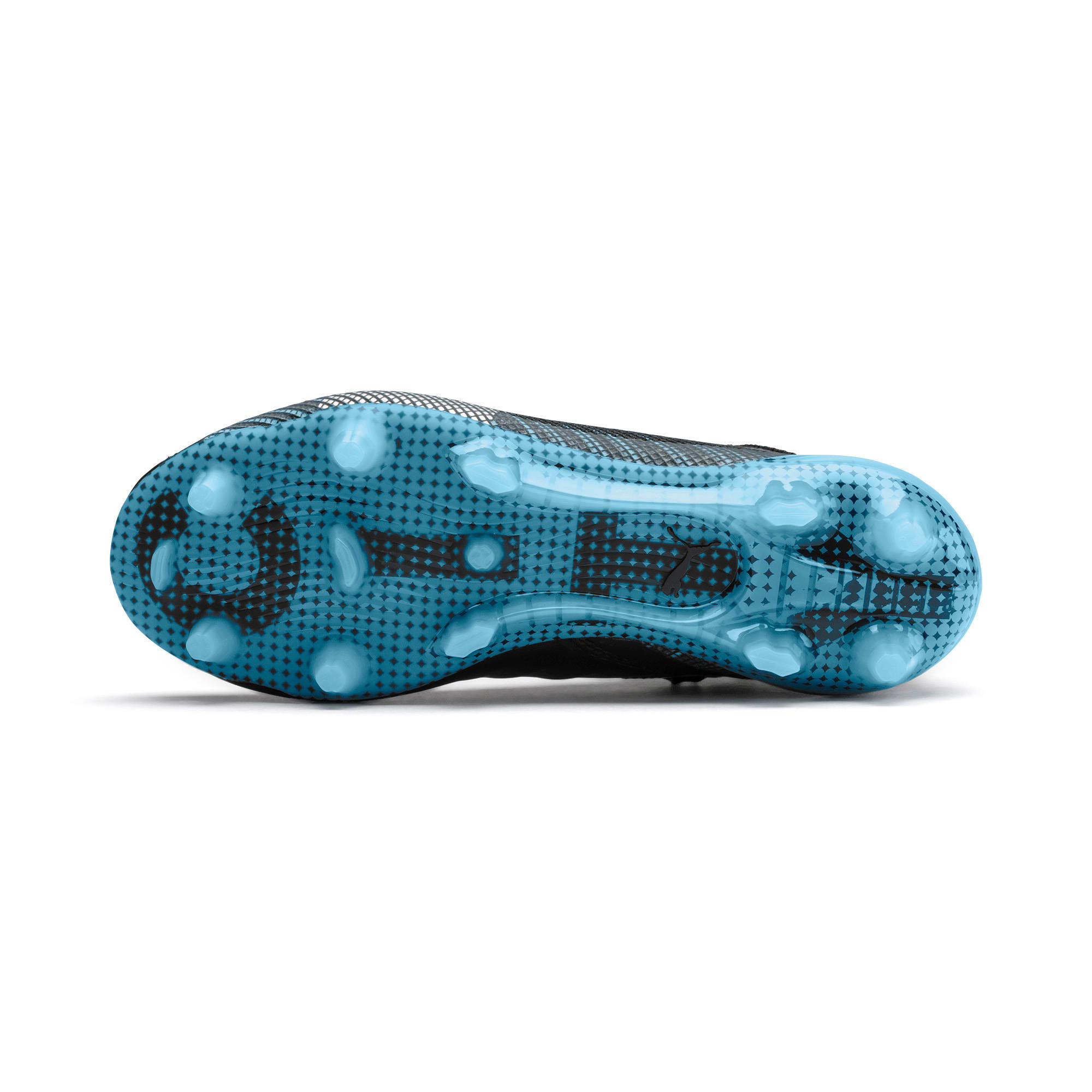 Thumbnail 4 of PUMA ONE 5.1 City Youth Football Boots, Black-Sky Blue-Puma White, medium