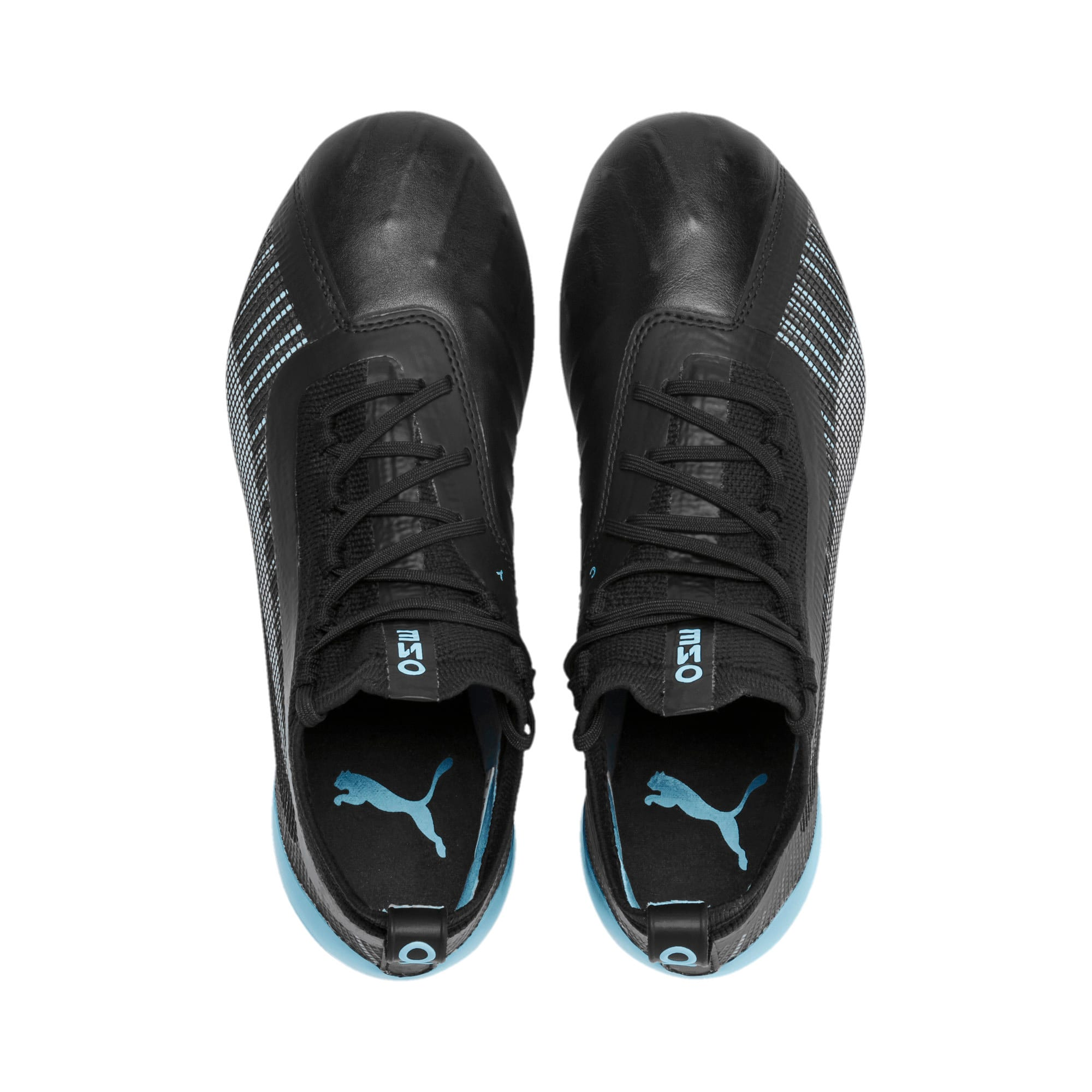 Thumbnail 6 of PUMA ONE 5.1 City Youth Football Boots, Black-Sky Blue-Puma White, medium