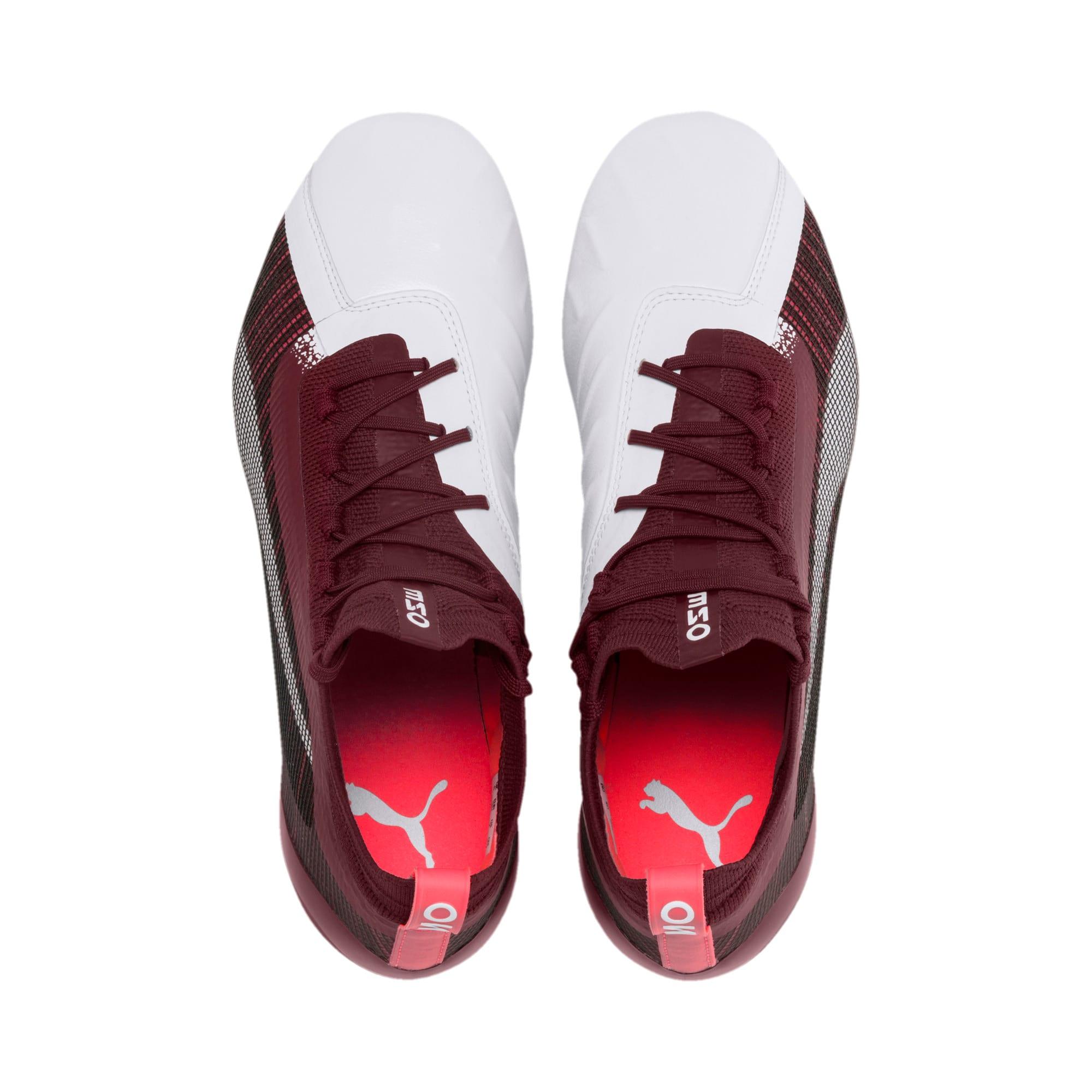Thumbnail 7 of PUMA ONE 5.1 Women's Football Boots, White-Vineyard Wine-Silver, medium