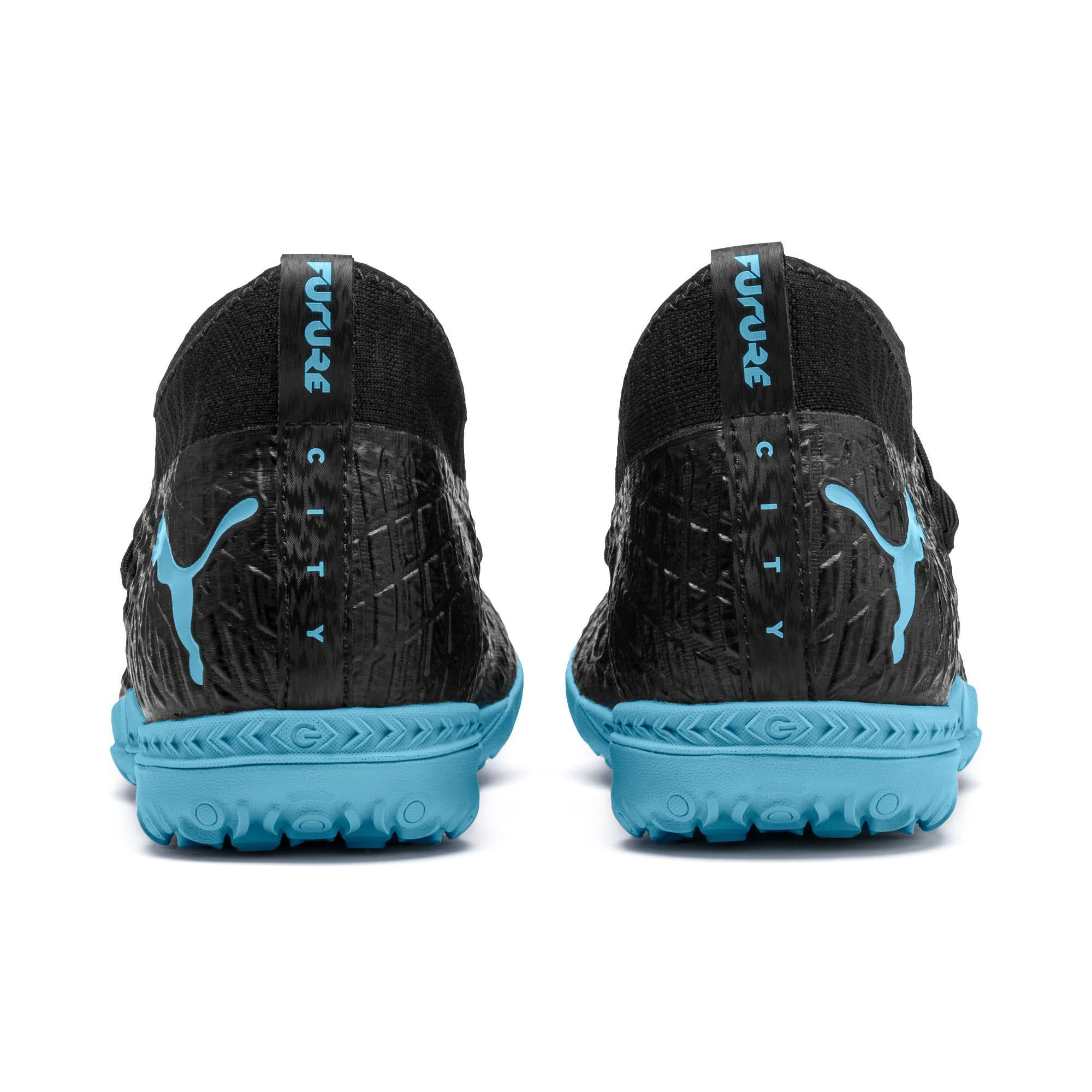 Thumbnail 4 of FUTURE 4.3 NETFIT City TT Men's Soccer Shoes, Black-Sky Blue-Puma White, medium