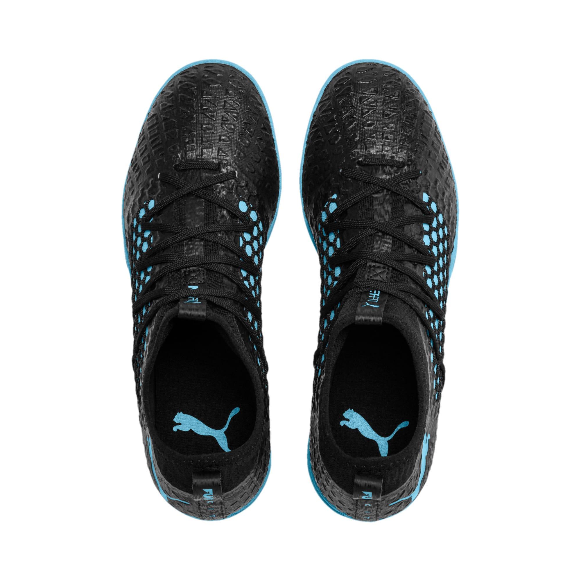 Thumbnail 7 of FUTURE 4.3 NETFIT City TT Men's Soccer Shoes, Black-Sky Blue-Puma White, medium
