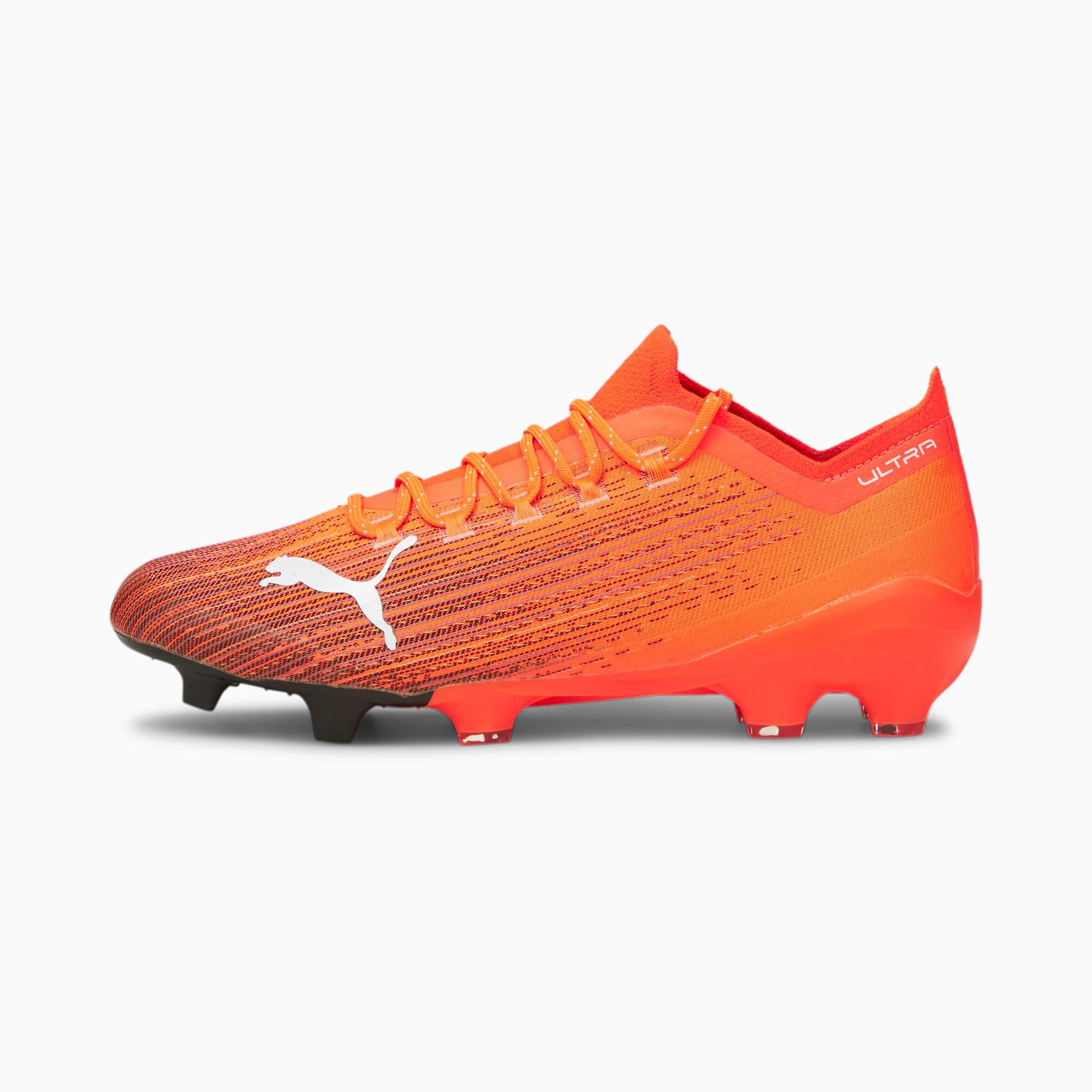 ULTRA 1.1 FG/AG Soccer Cleats, Shocking Orange-Puma Black, extralarge