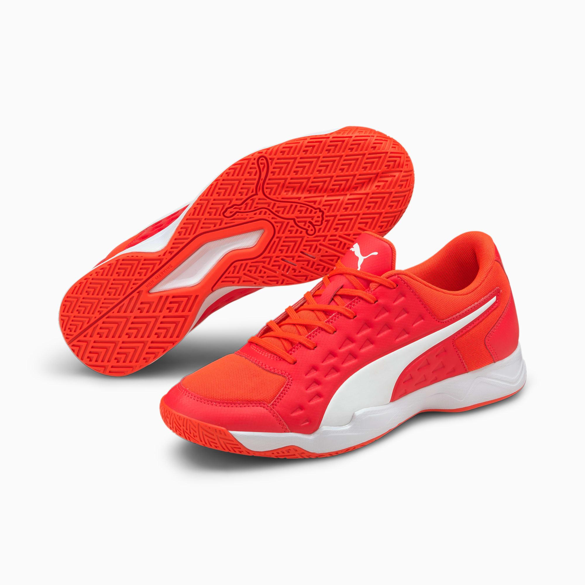 Auriz Men's Indoor Sports Shoes   Red Blast-White-Red Blast   PUMA ...