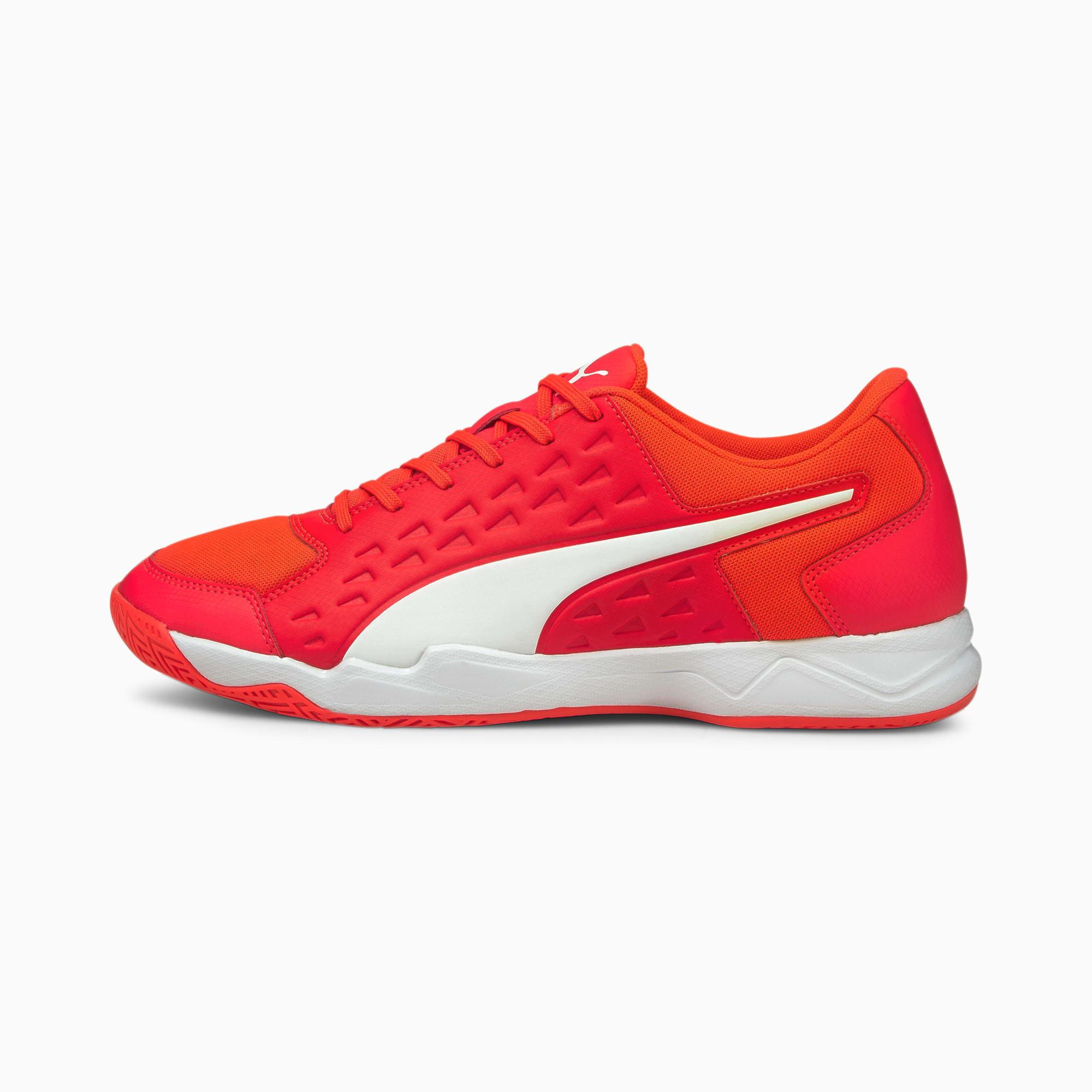 Auriz Men's Indoor Sports Shoes | Red Blast-White-Red Blast | PUMA ...