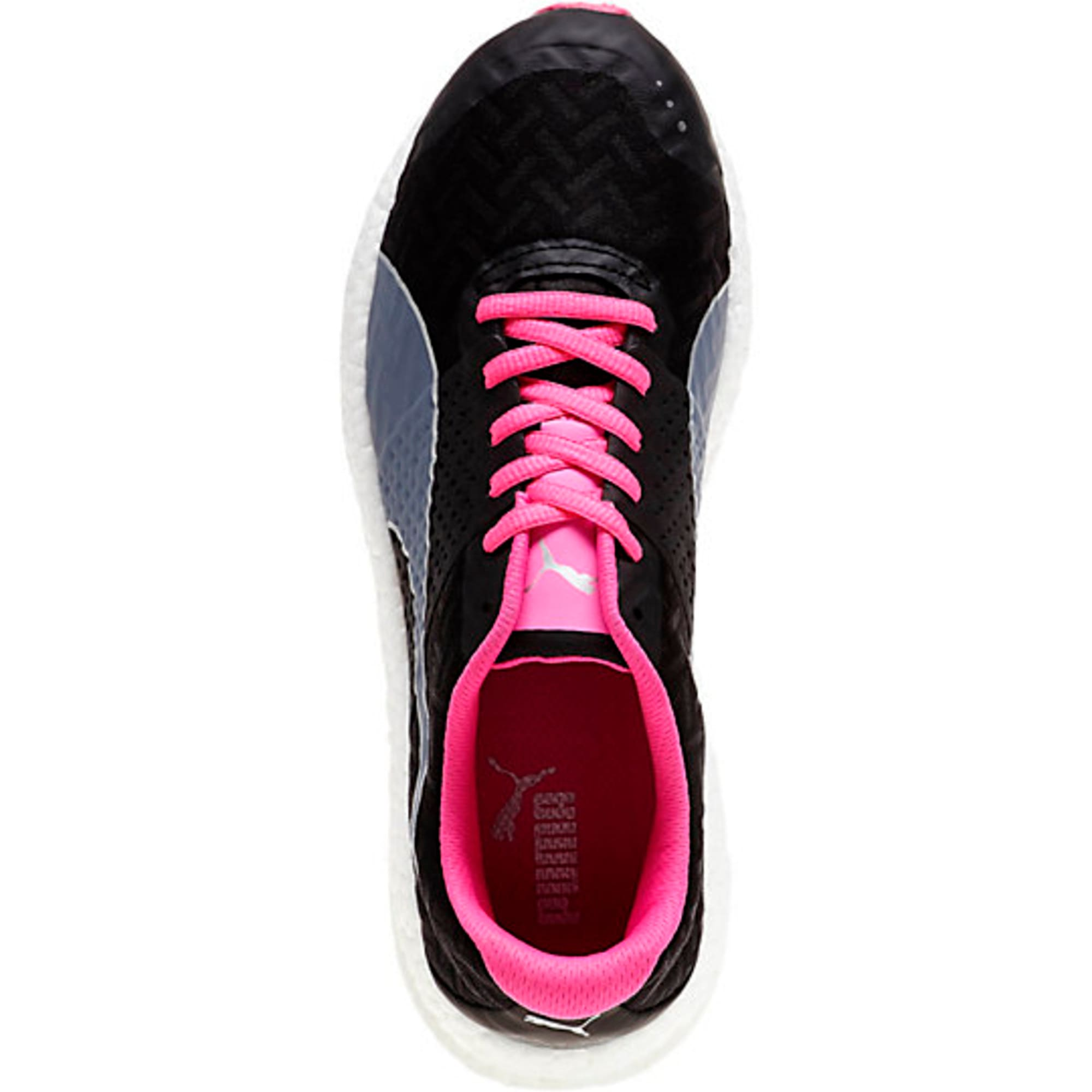 Thumbnail 2 of NRGY Running Shoes, black-fluo pink, medium-IND