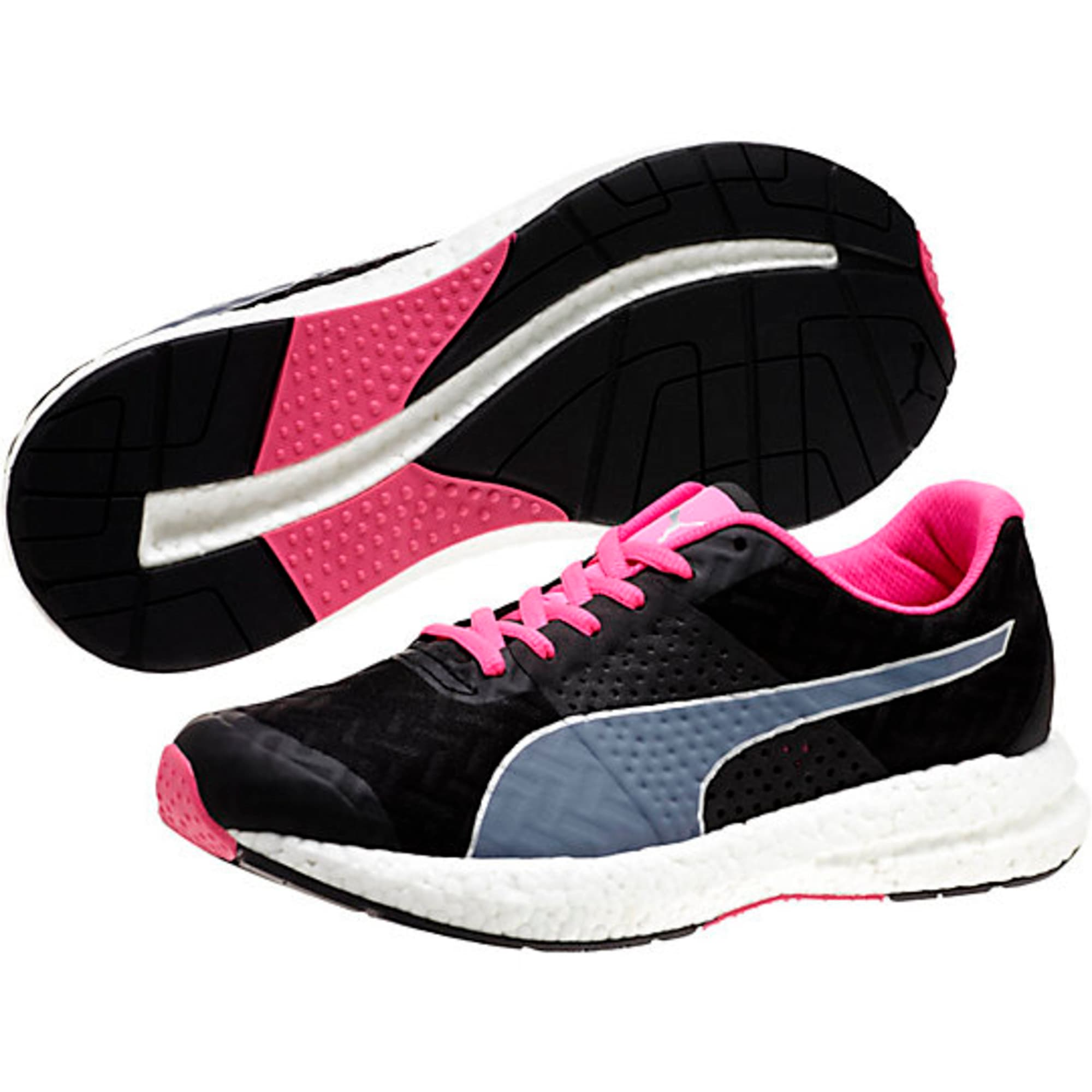 Thumbnail 4 of NRGY Running Shoes, black-fluo pink, medium-IND