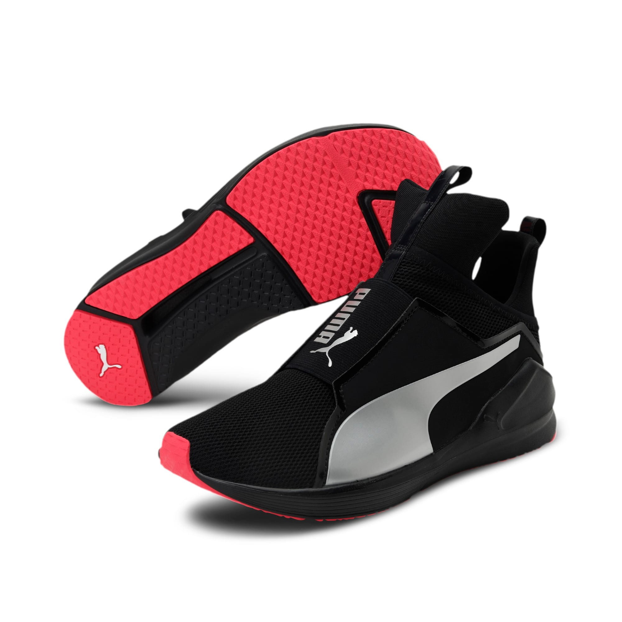 Thumbnail 2 of PUMA Fierce Core Training Shoes, Puma Black-Paradise Pink, medium-IND