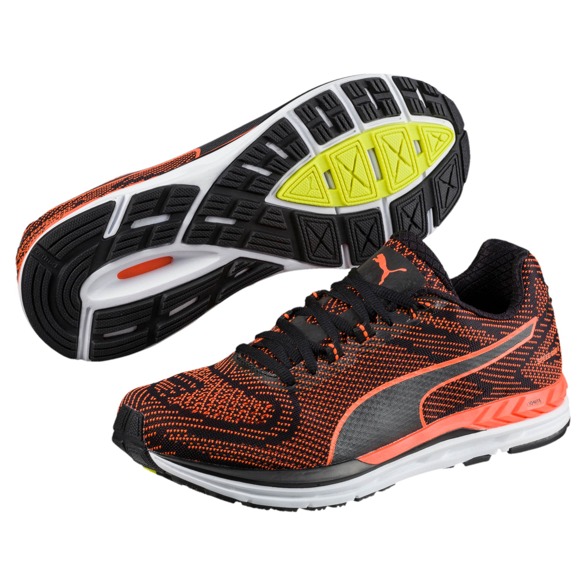Thumbnail 2 of Speed 600 S IGNITE Men's Running Shoes, Puma Black-Shocking Orange, medium-IND