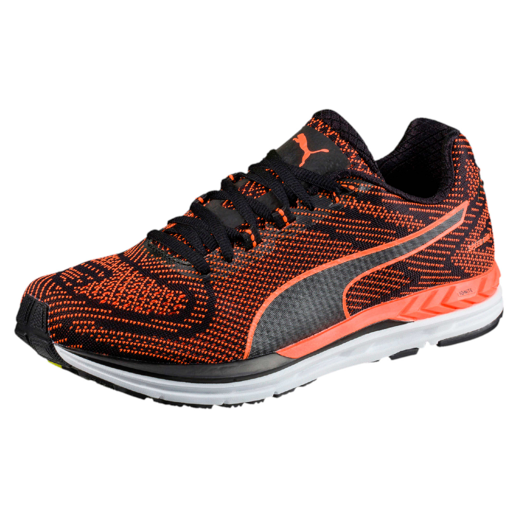 Thumbnail 1 of Speed 600 S IGNITE Men's Running Shoes, Puma Black-Shocking Orange, medium-IND