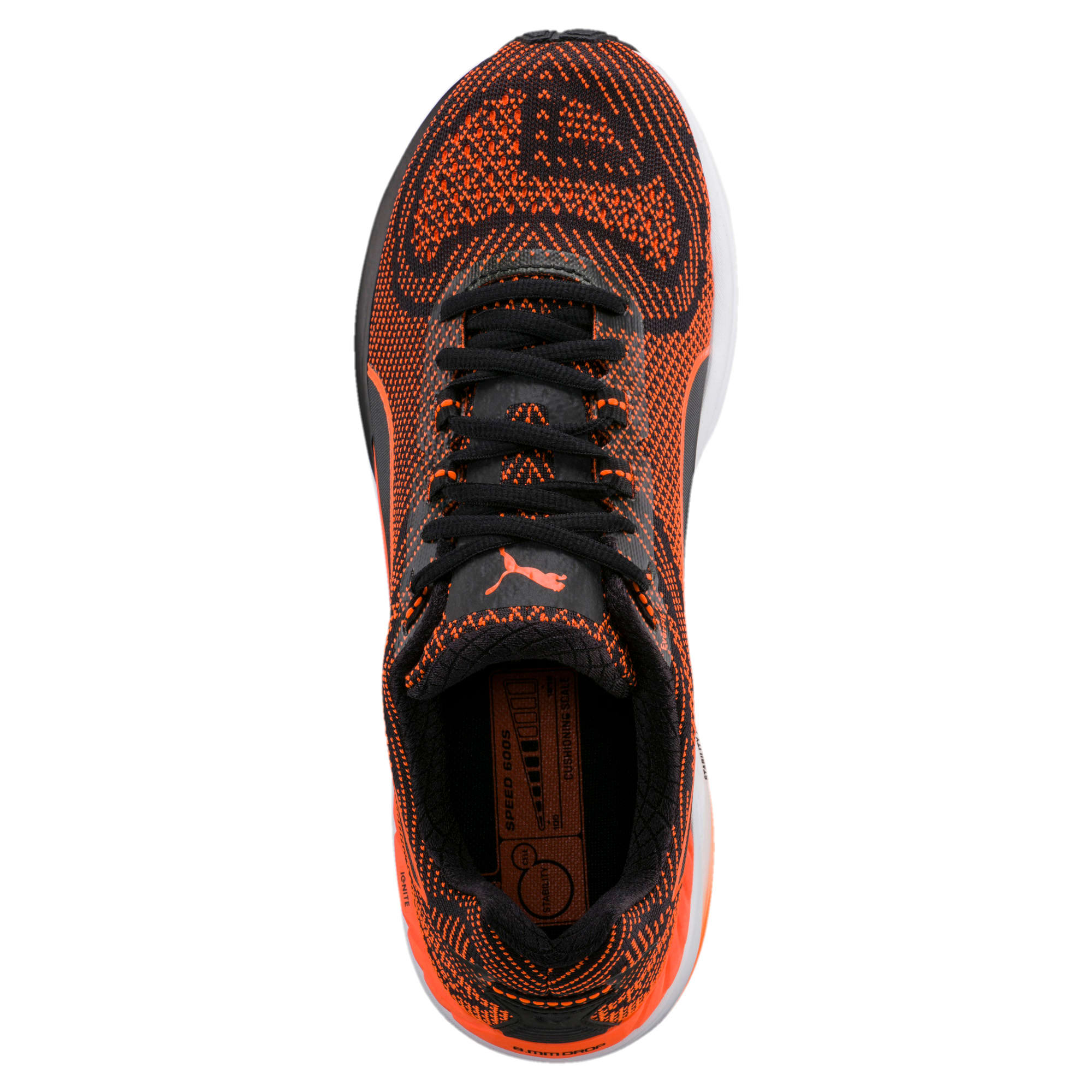 Thumbnail 5 of Speed 600 S IGNITE Men's Running Shoes, Puma Black-Shocking Orange, medium-IND