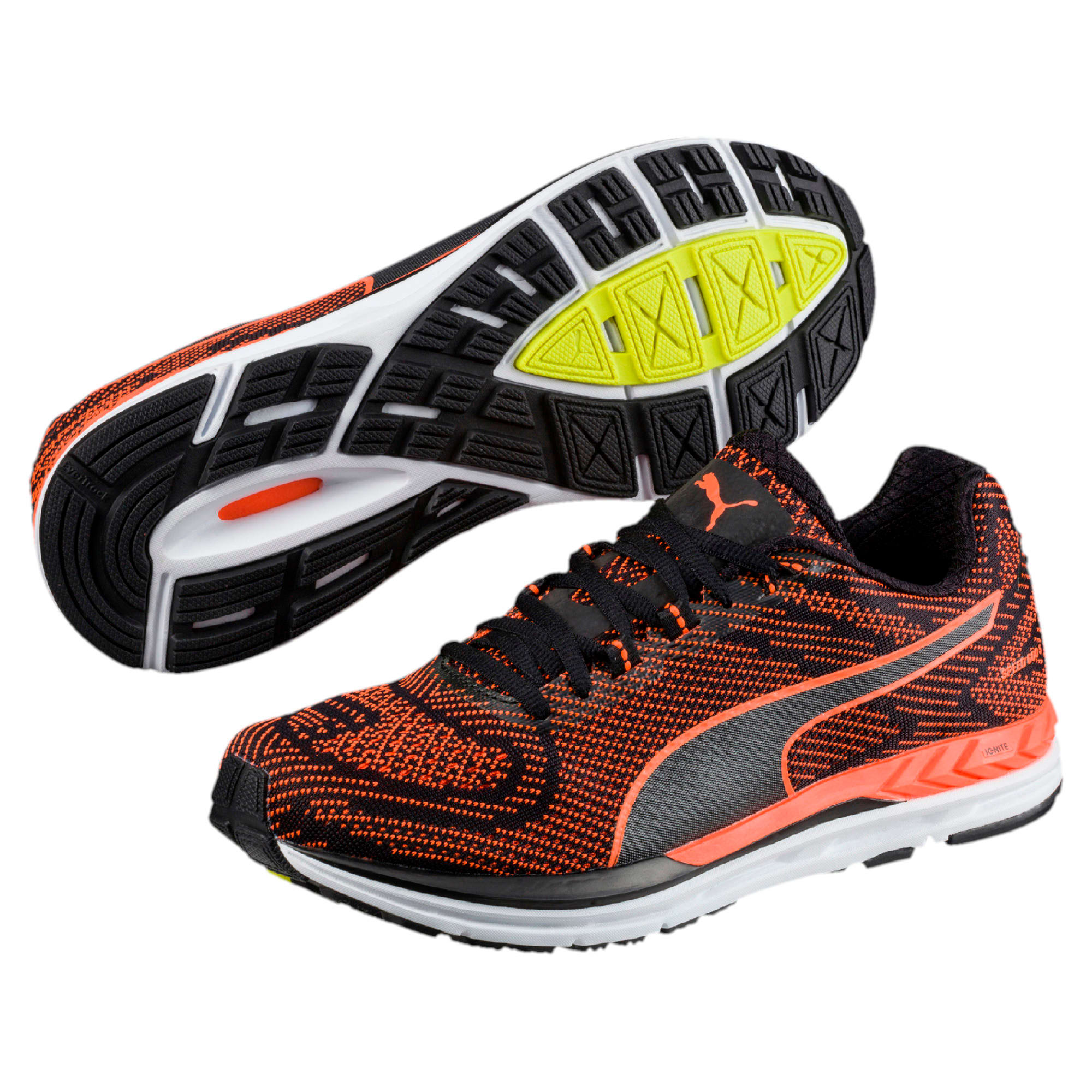 Thumbnail 6 of Speed 600 S IGNITE Men's Running Shoes, Puma Black-Shocking Orange, medium-IND