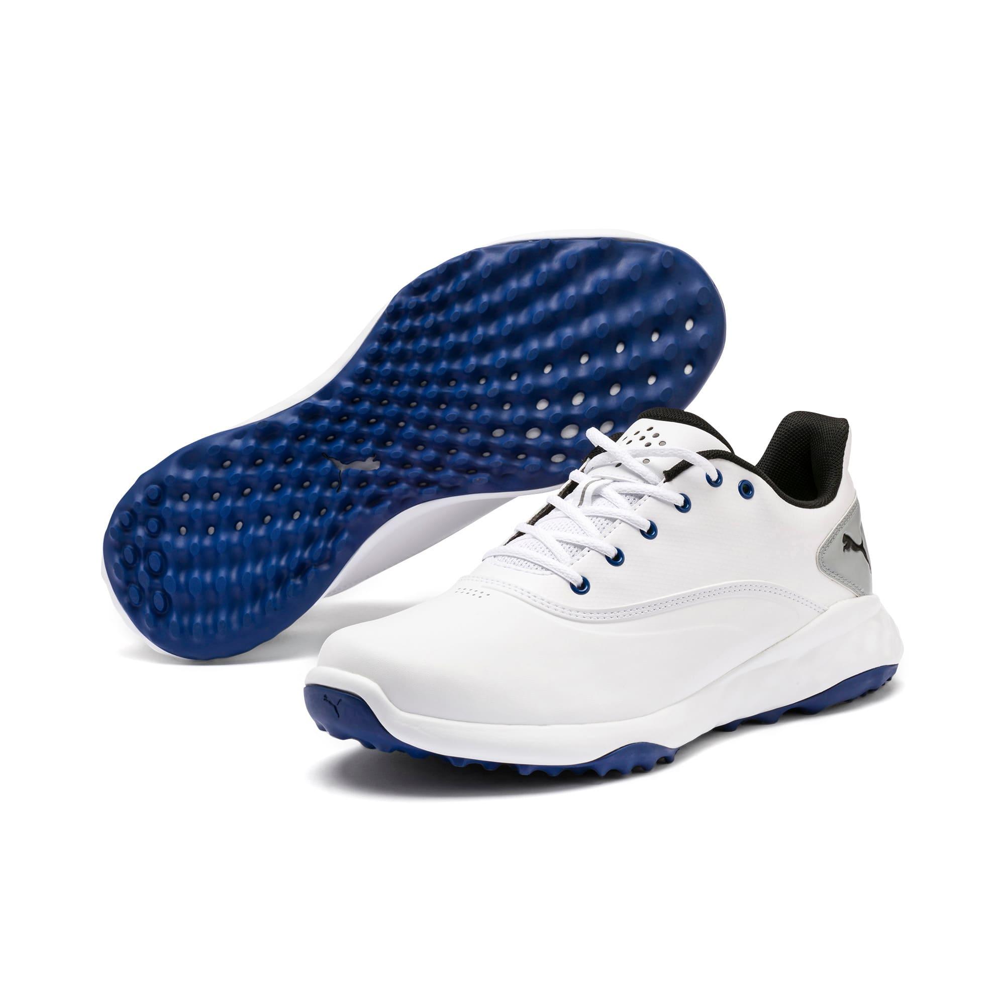 Thumbnail 2 of Chaussure de golf GRIP FUSION pour homme, White-Black-TRUE BLUE, medium