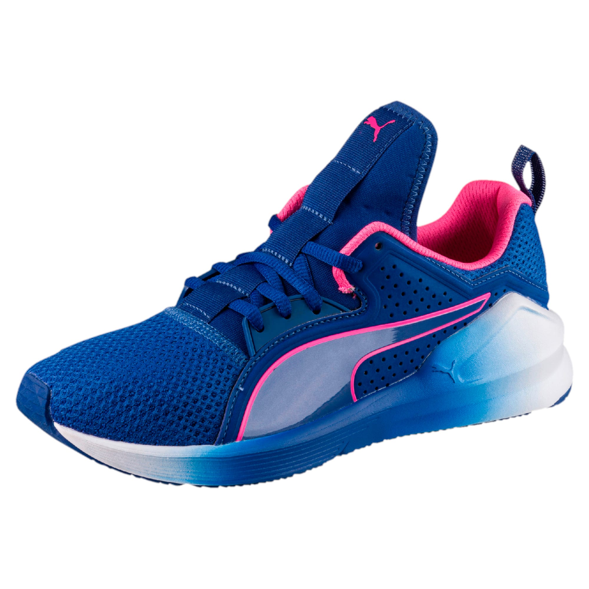 Thumbnail 1 of PUMA Fierce Lace Training Shoes, TRUE BLUE-KNOCKOUT PINK, medium-IND