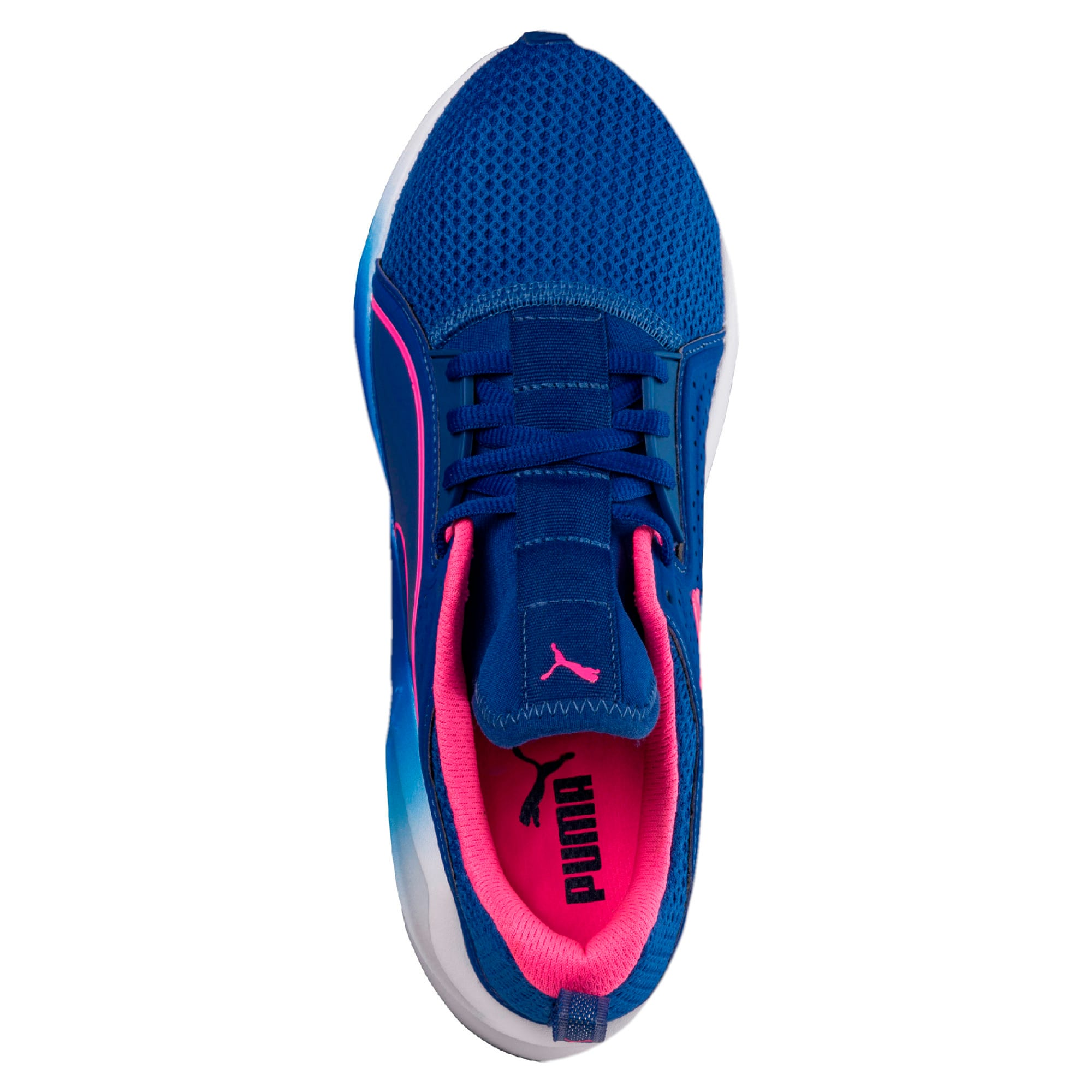 Thumbnail 4 of PUMA Fierce Lace Training Shoes, TRUE BLUE-KNOCKOUT PINK, medium-IND