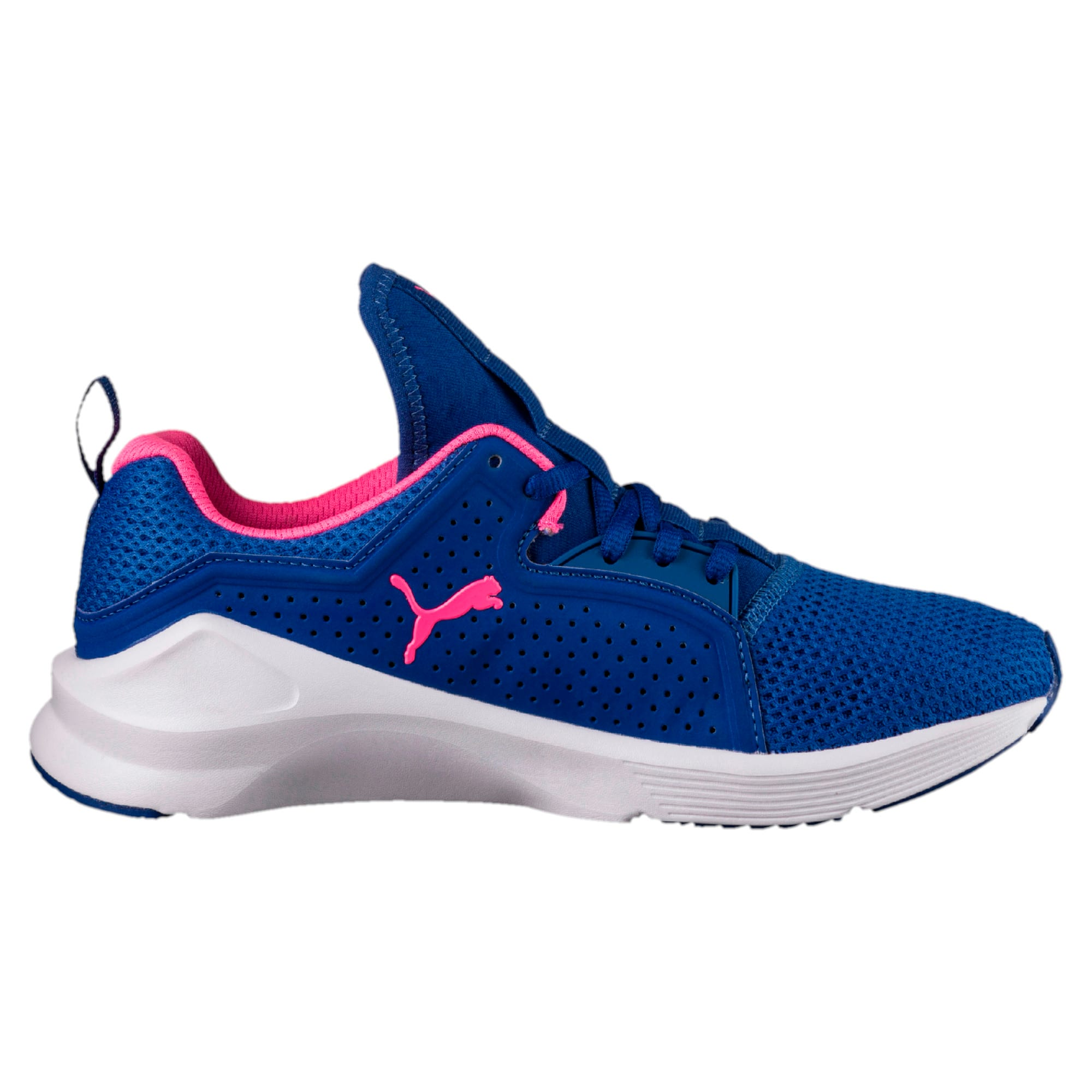 Thumbnail 5 of PUMA Fierce Lace Training Shoes, TRUE BLUE-KNOCKOUT PINK, medium-IND