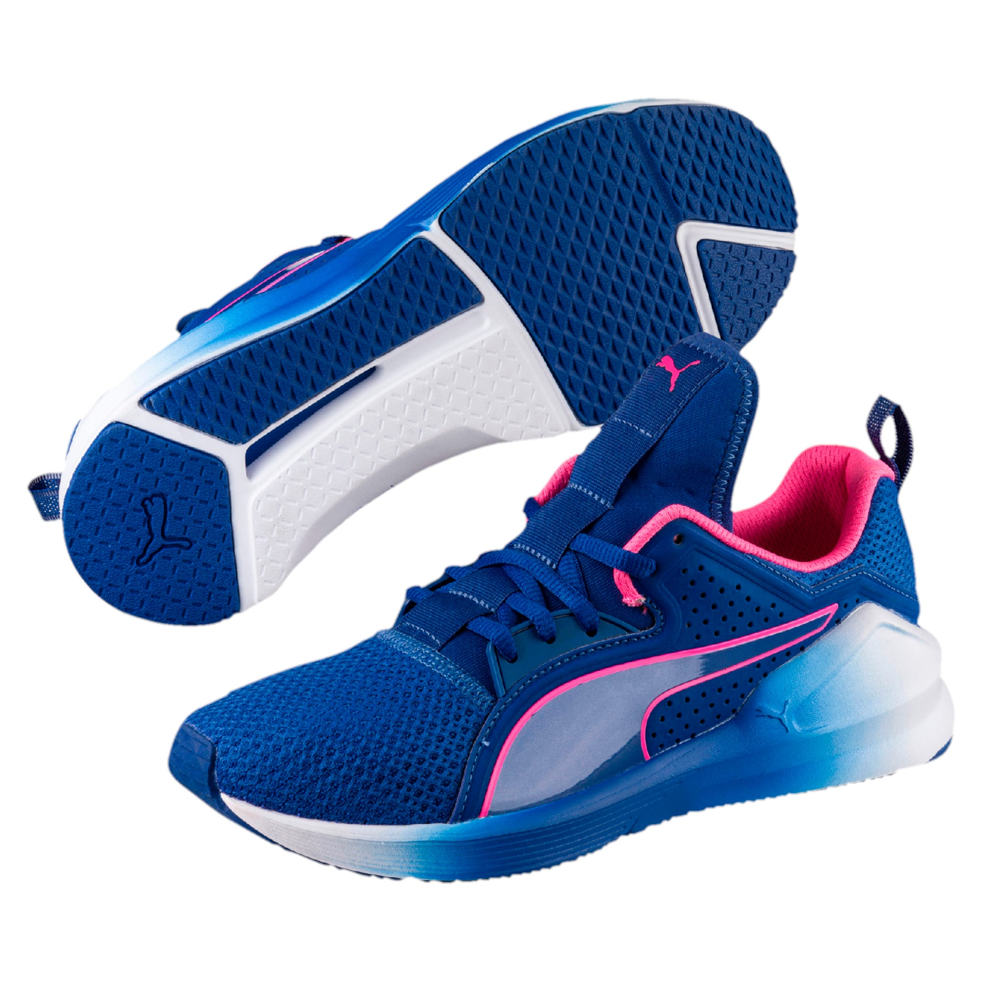 Thumbnail 6 of PUMA Fierce Lace Training Shoes, TRUE BLUE-KNOCKOUT PINK, medium-IND
