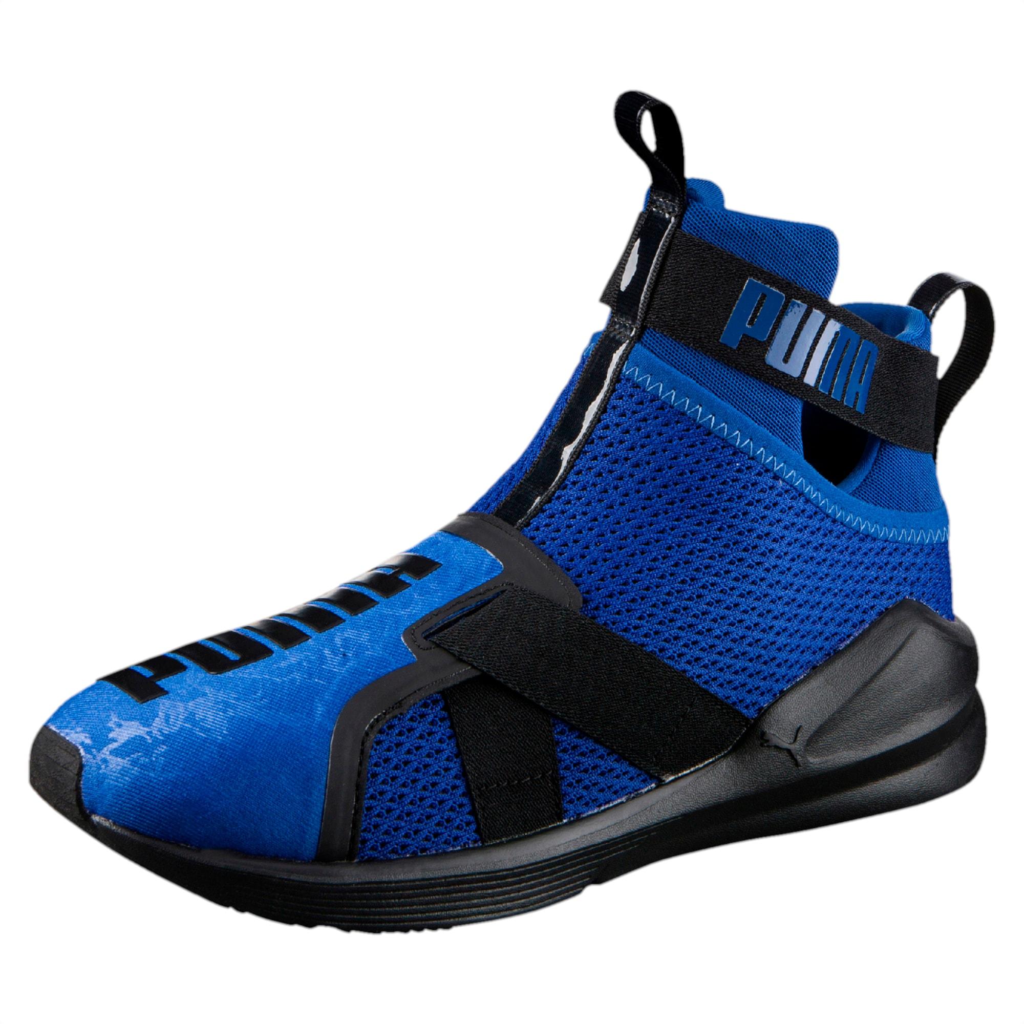 puma fierce shine trainer sneaker - black