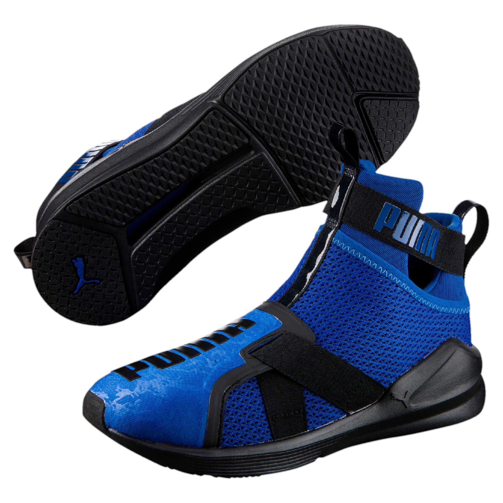 Thumbnail 6 of PUMA Fierce Strap Training Shoes, TRUE BLUE-Puma Black, medium-IND