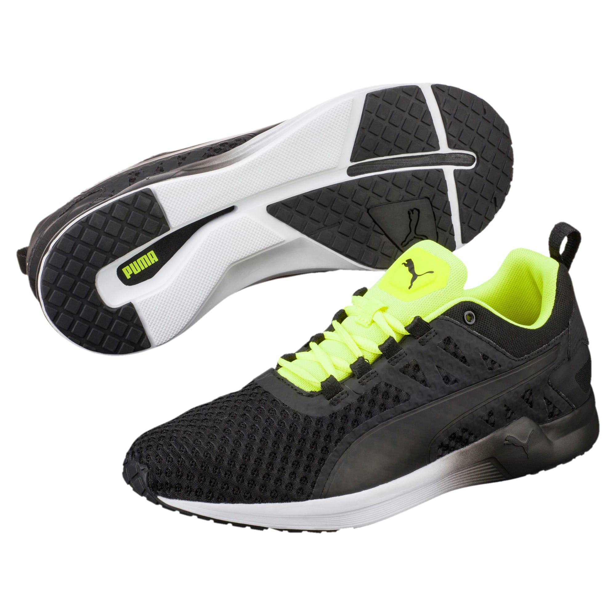 Thumbnail 2 of Pulse XT v2 Mesh Men's Training Shoes, Puma Black-Safety Yellow, medium-IND