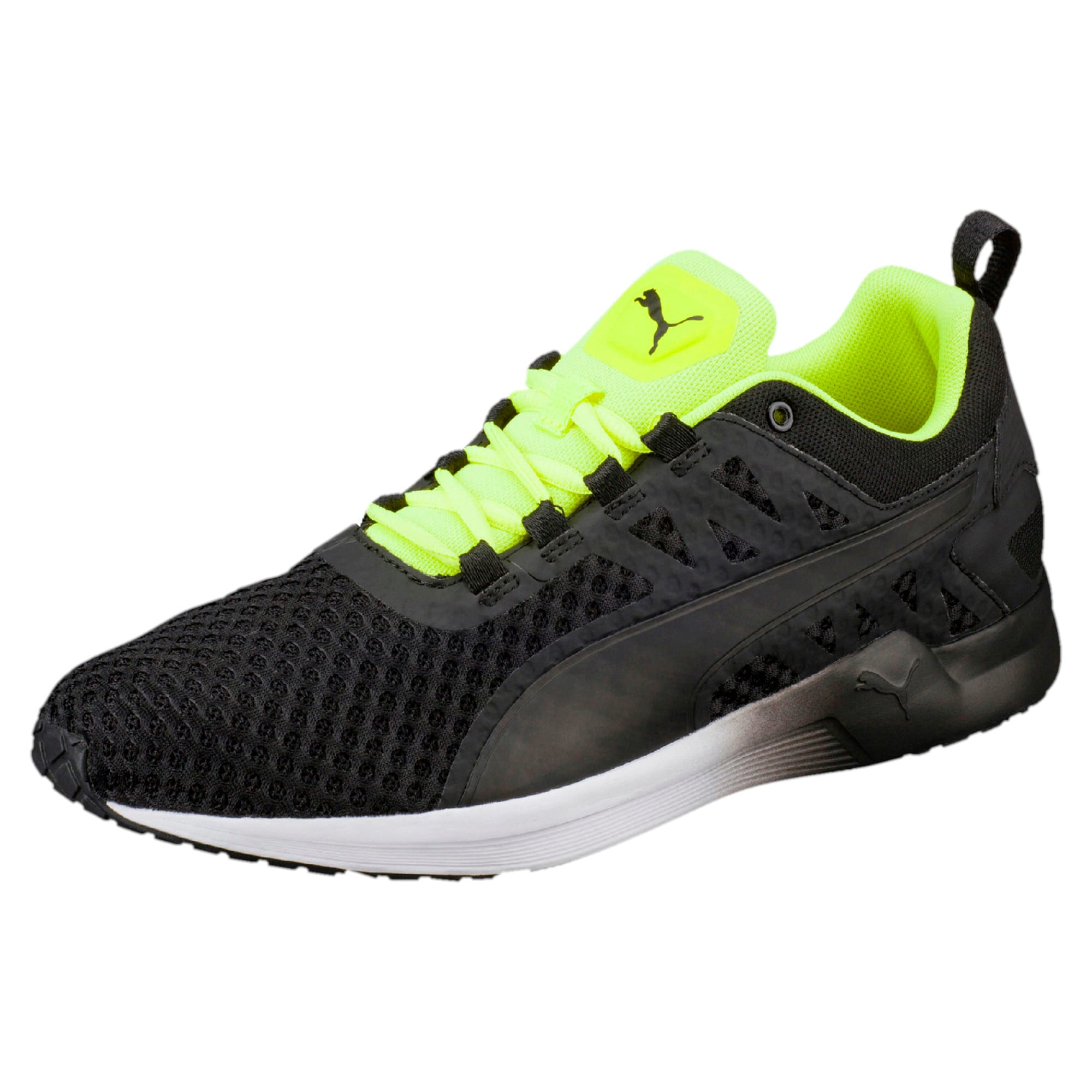 Thumbnail 1 of Pulse XT v2 Mesh Men's Training Shoes, Puma Black-Safety Yellow, medium-IND