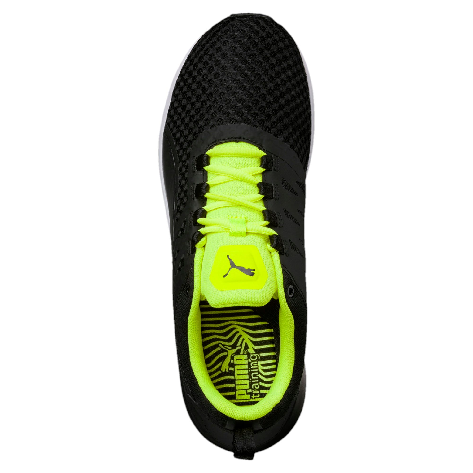 Thumbnail 4 of Pulse XT v2 Mesh Men's Training Shoes, Puma Black-Safety Yellow, medium-IND