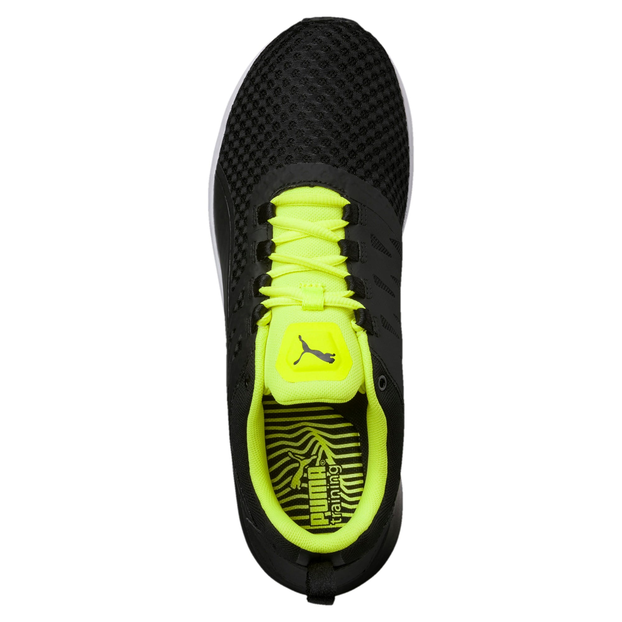 Thumbnail 5 of Pulse XT v2 Mesh Men's Training Shoes, Puma Black-Safety Yellow, medium-IND