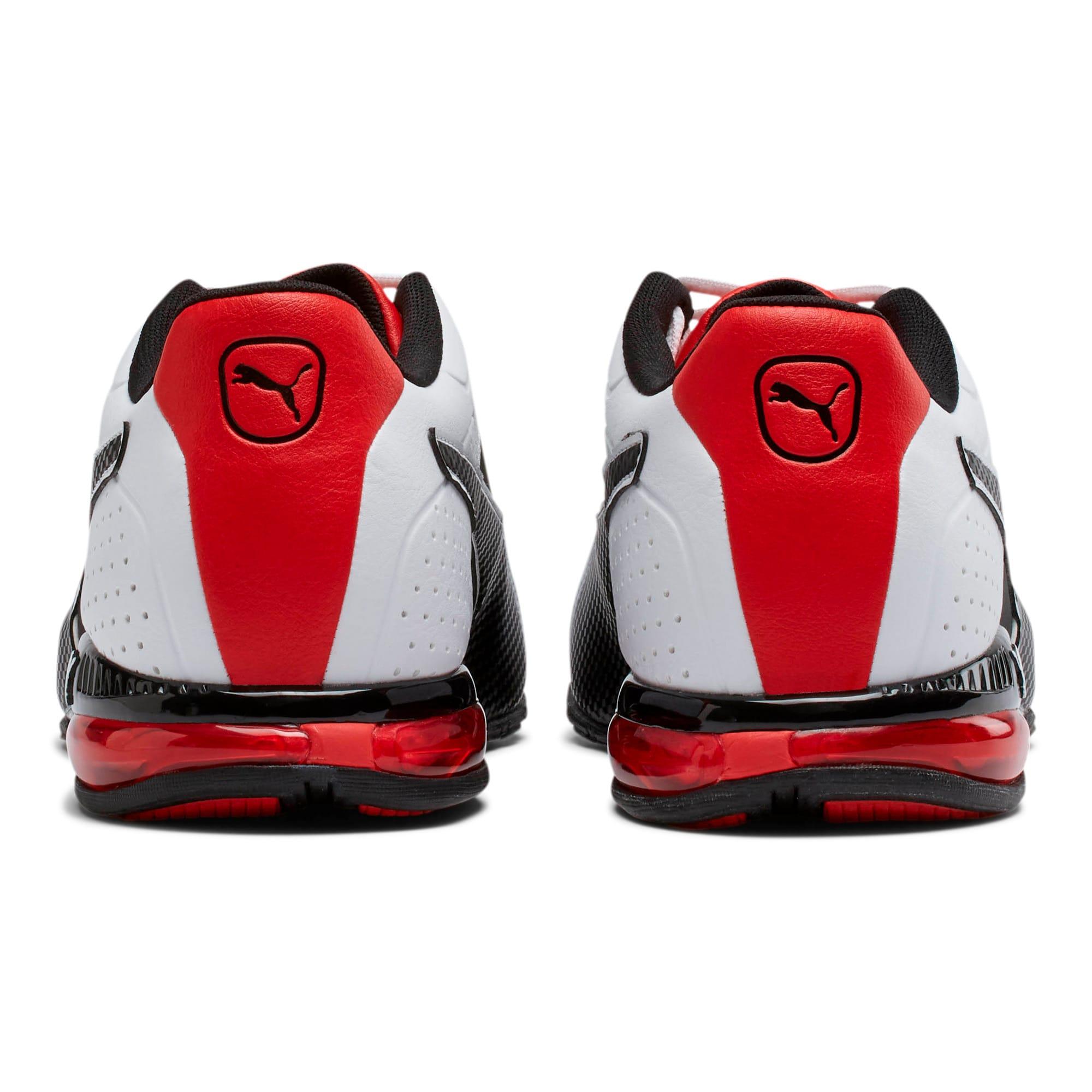 Thumbnail 3 of CELL Surin 2 FM Men's Running Shoes, White-Black-flame scarlet, medium