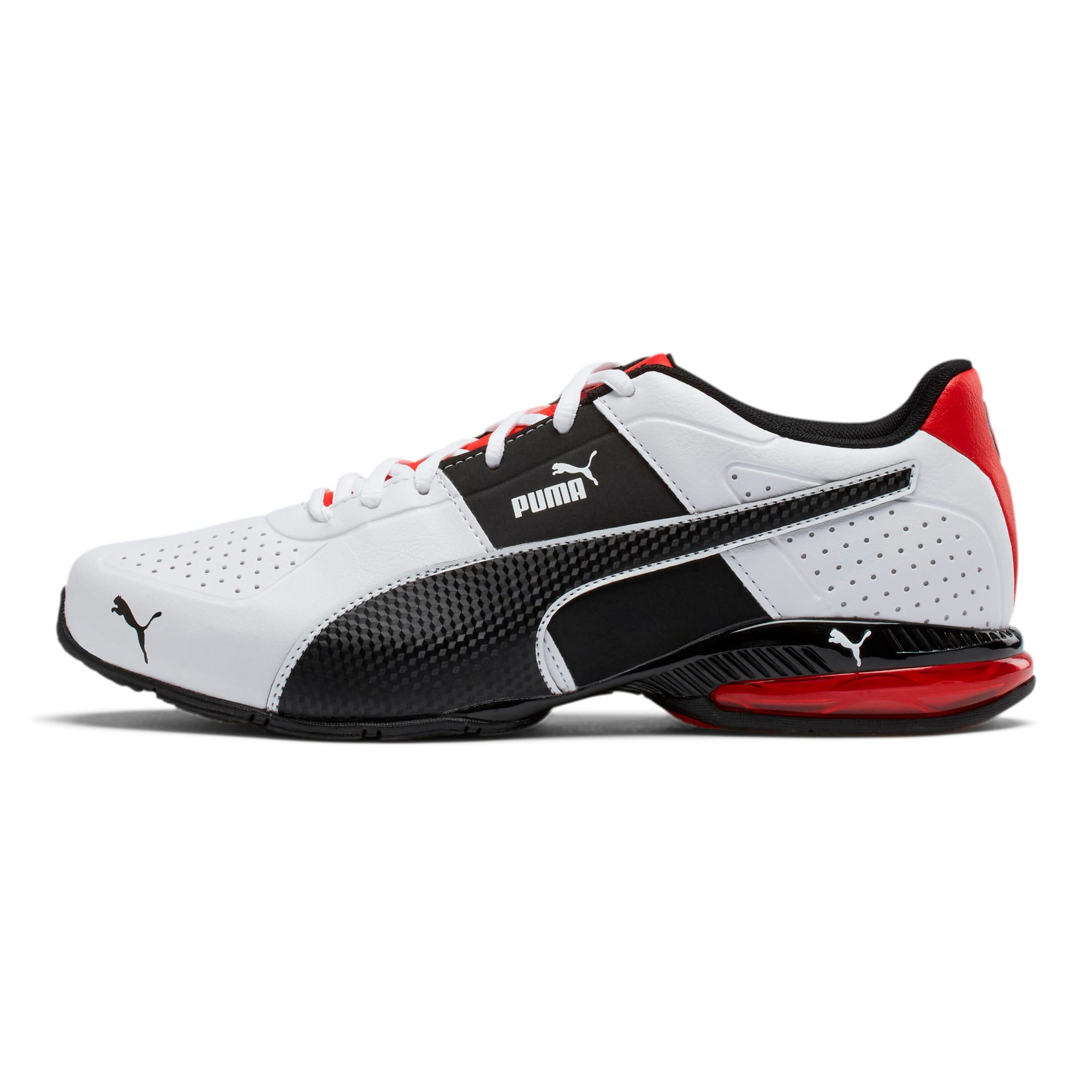 Thumbnail 1 of CELL Surin 2 FM Men's Running Shoes, White-Black-flame scarlet, medium