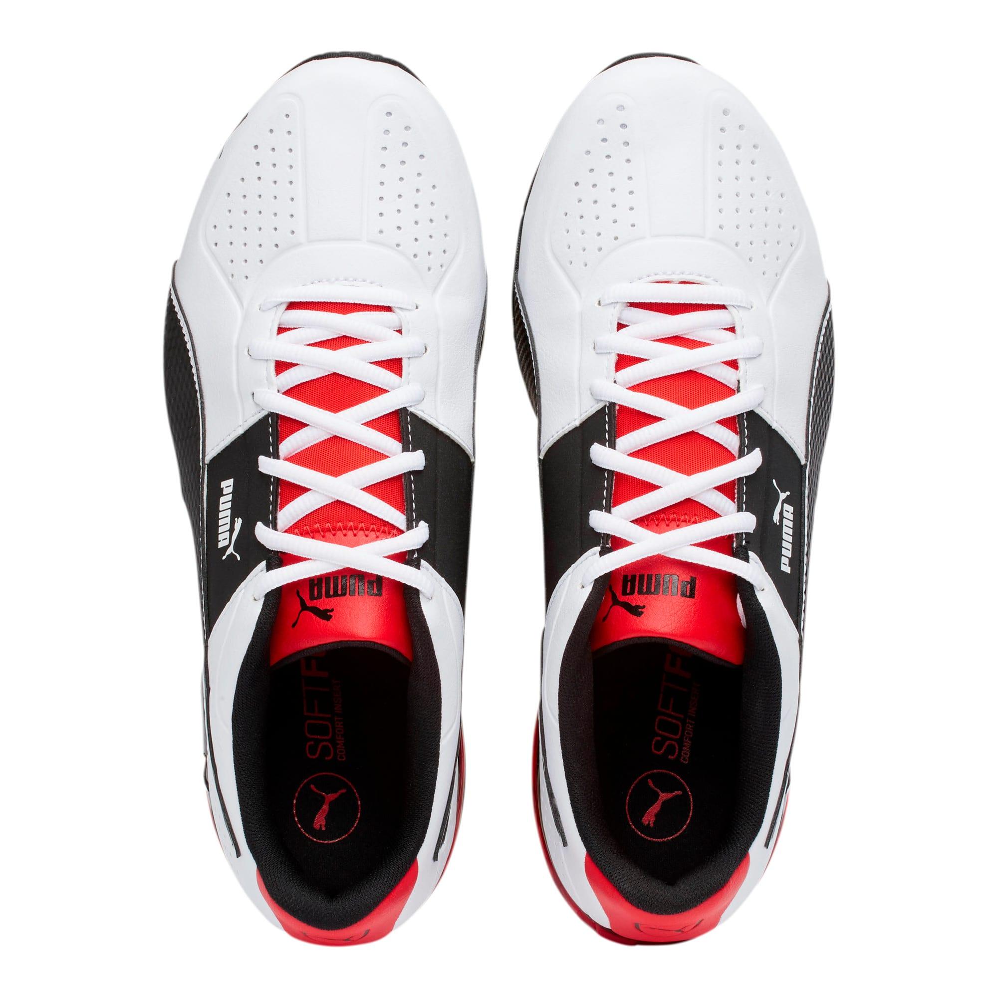 Thumbnail 6 of CELL Surin 2 FM Men's Running Shoes, White-Black-flame scarlet, medium