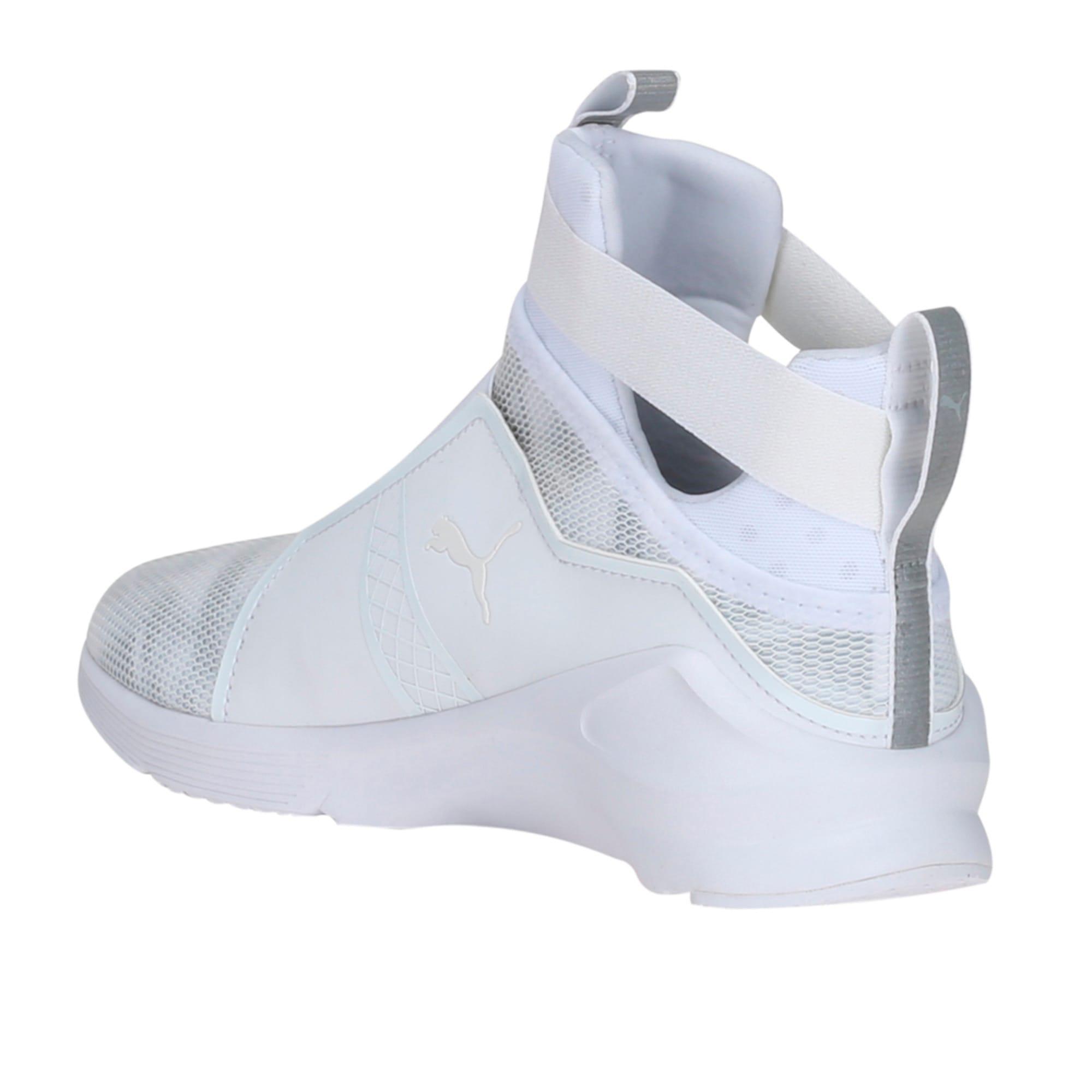 Thumbnail 3 of PUMA Fierce Swan Training Shoes, Puma White-Puma White, medium-IND