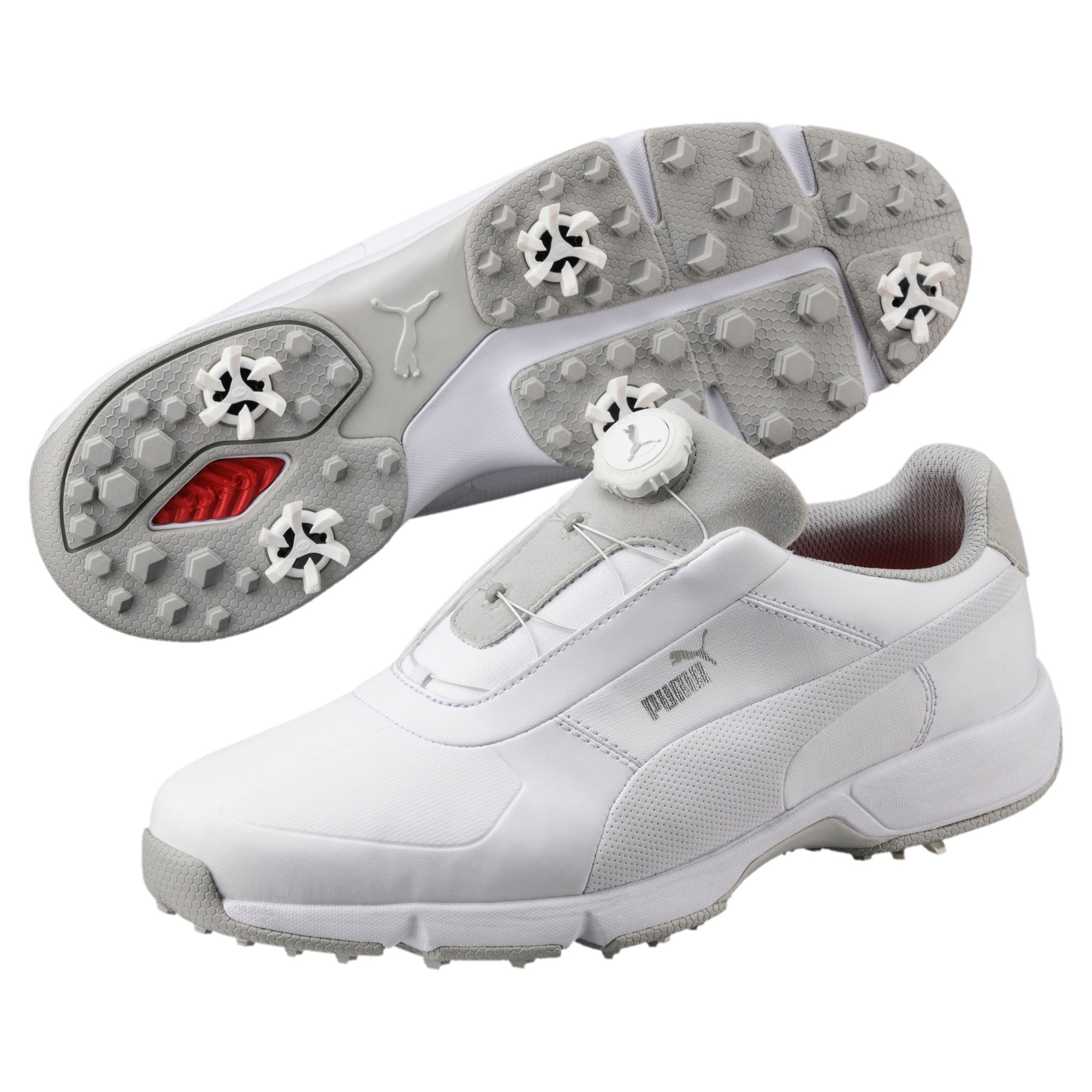 Thumbnail 2 of Chaussure de golf IGNITE Drive DISC pour homme, White-White, medium