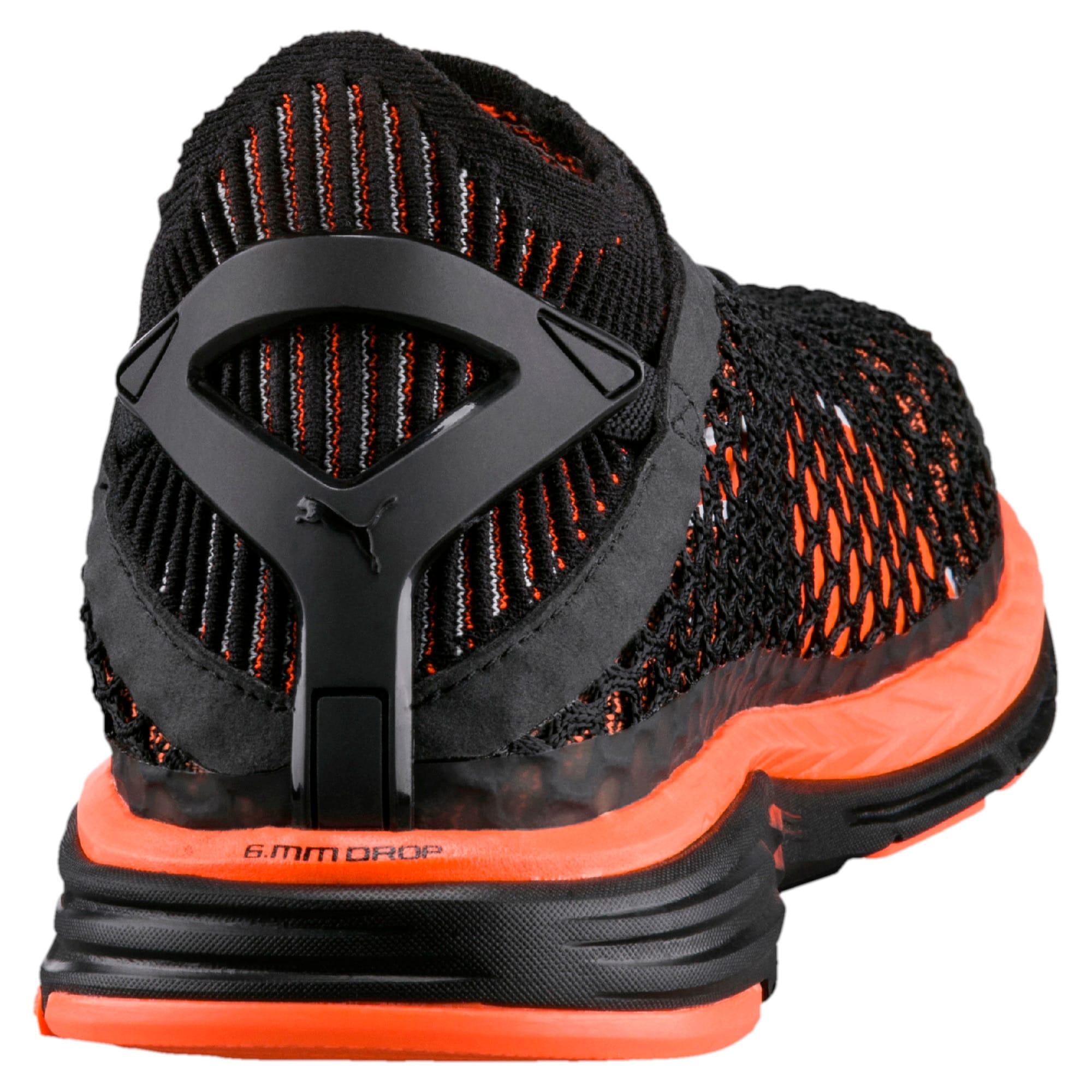 Thumbnail 4 of Speed IGNITE NETFIT Men's Running Shoes, Black-Shocking Orange-White, medium-IND