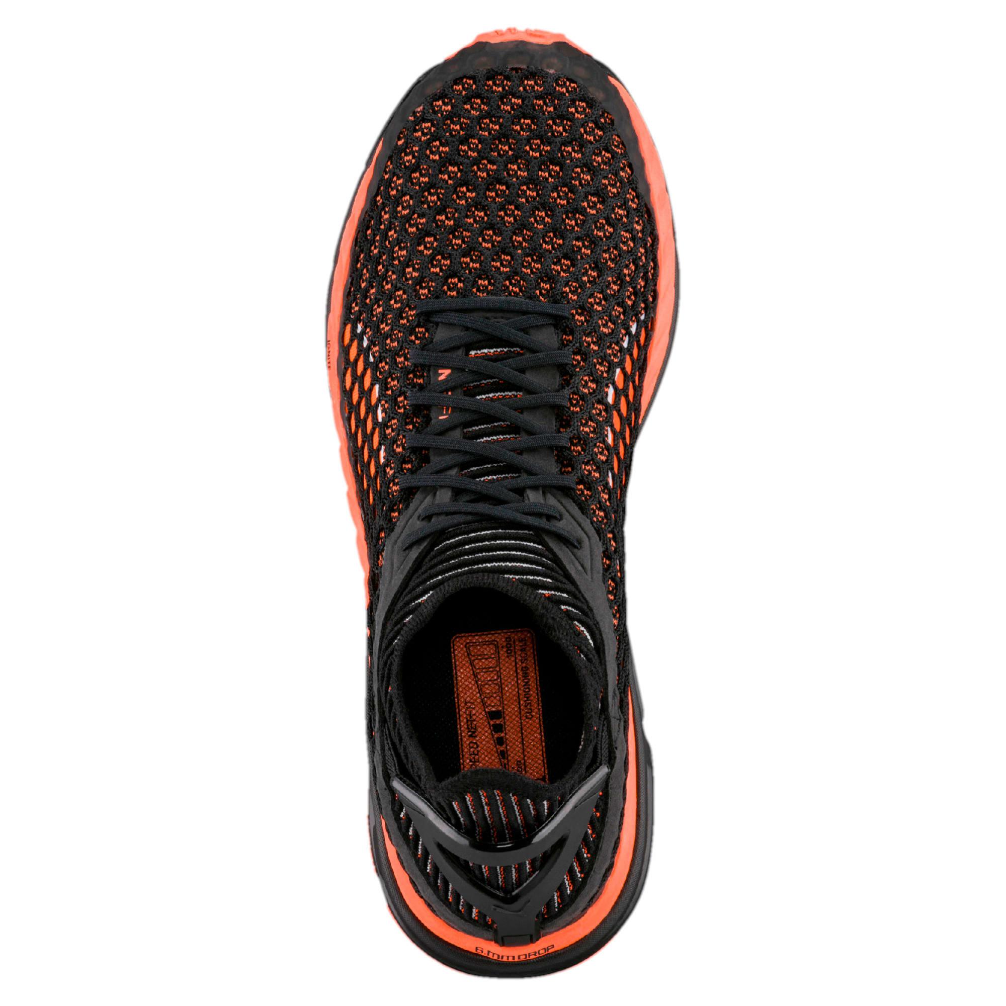 Thumbnail 5 of Speed IGNITE NETFIT Men's Running Shoes, Black-Shocking Orange-White, medium-IND