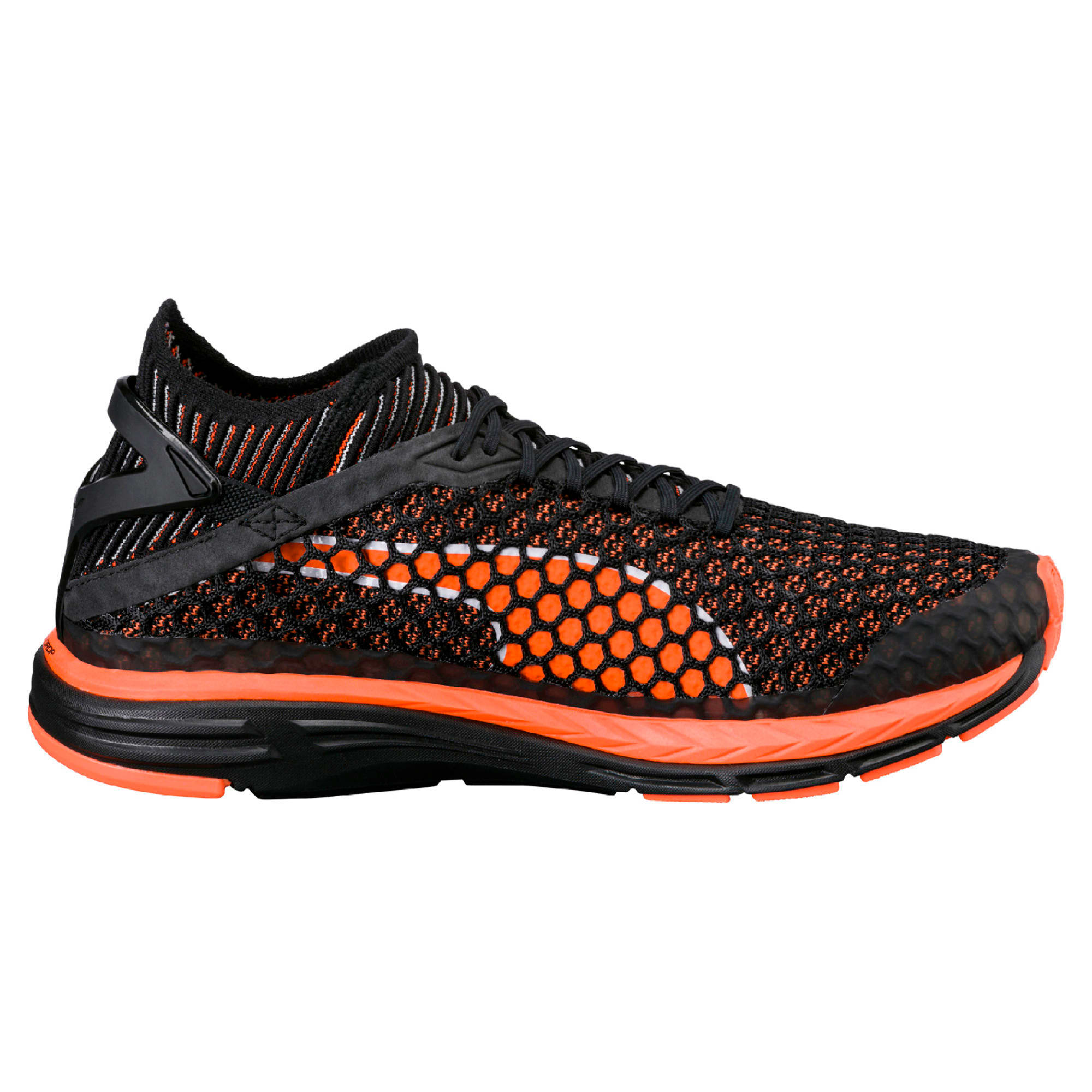 Thumbnail 6 of Speed IGNITE NETFIT Men's Running Shoes, Black-Shocking Orange-White, medium-IND