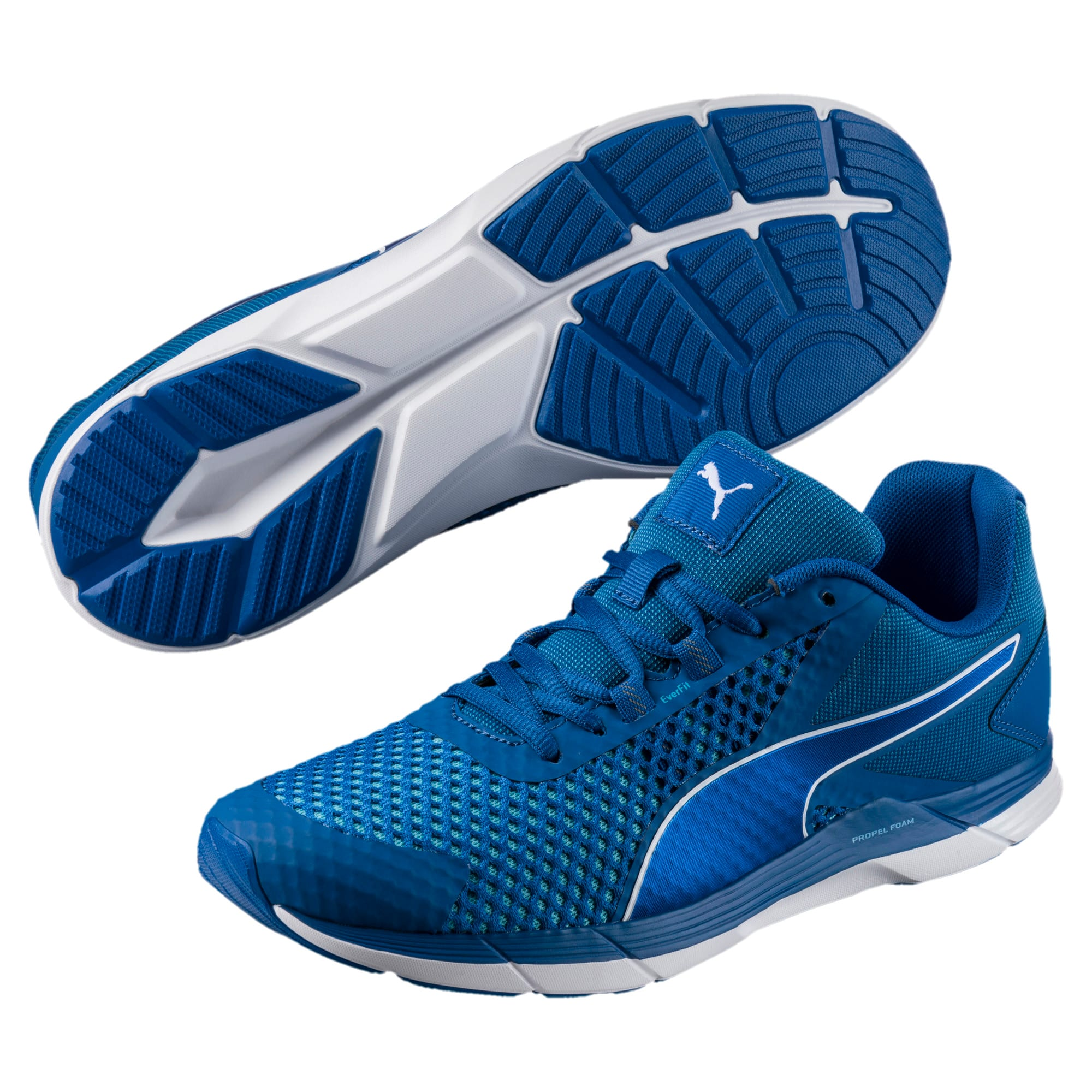 Thumbnail 2 of Propel 2 Men's Running Shoes, Lapis Blue-Turquoise-White, medium-IND