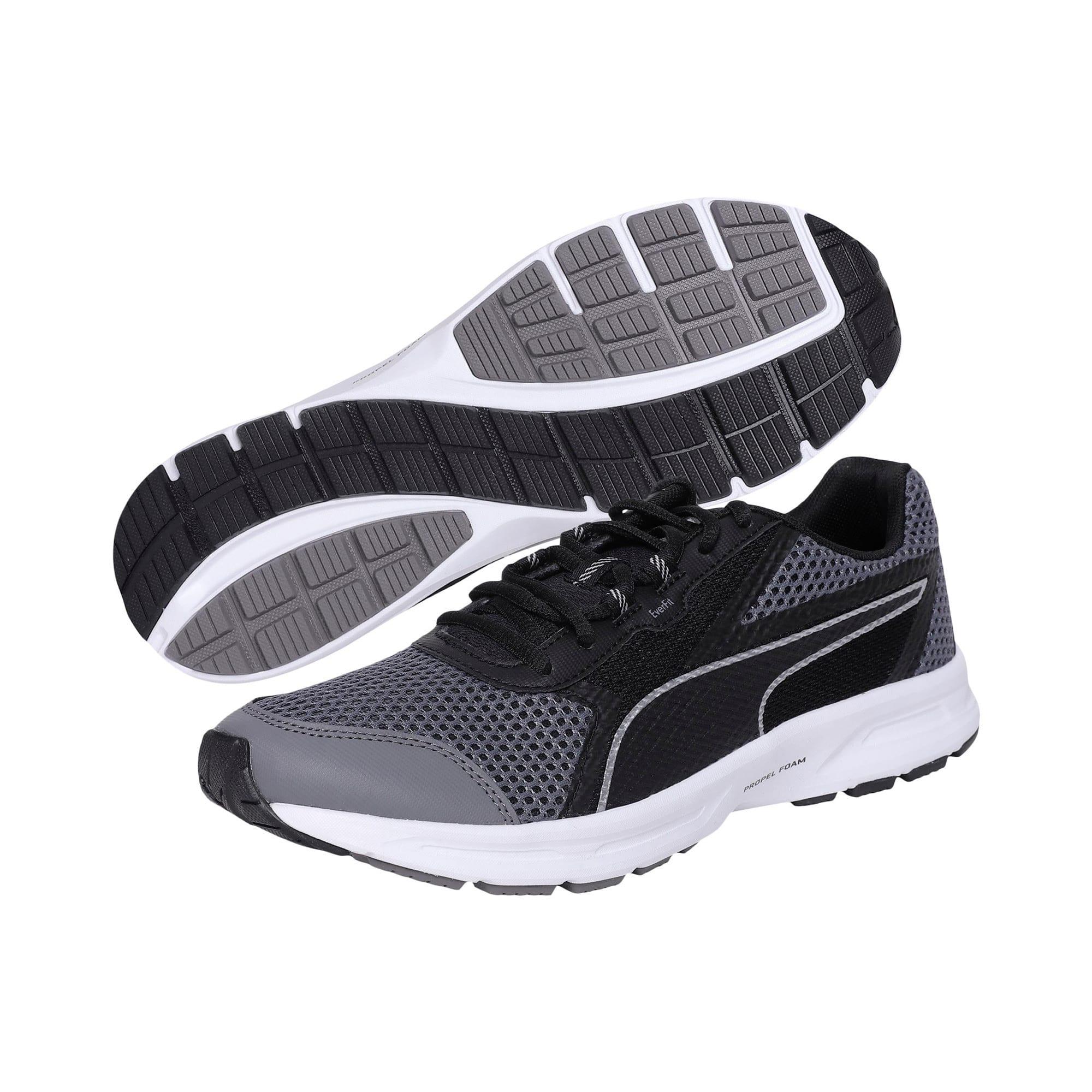 Thumbnail 2 of Essential Runner Men's Running Shoes, QUIET SHADE-Black-Silver, medium-IND