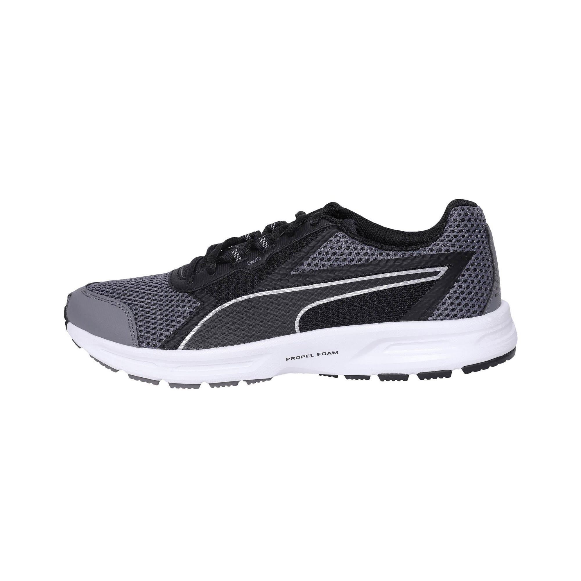Thumbnail 1 of Essential Runner Men's Running Shoes, QUIET SHADE-Black-Silver, medium-IND