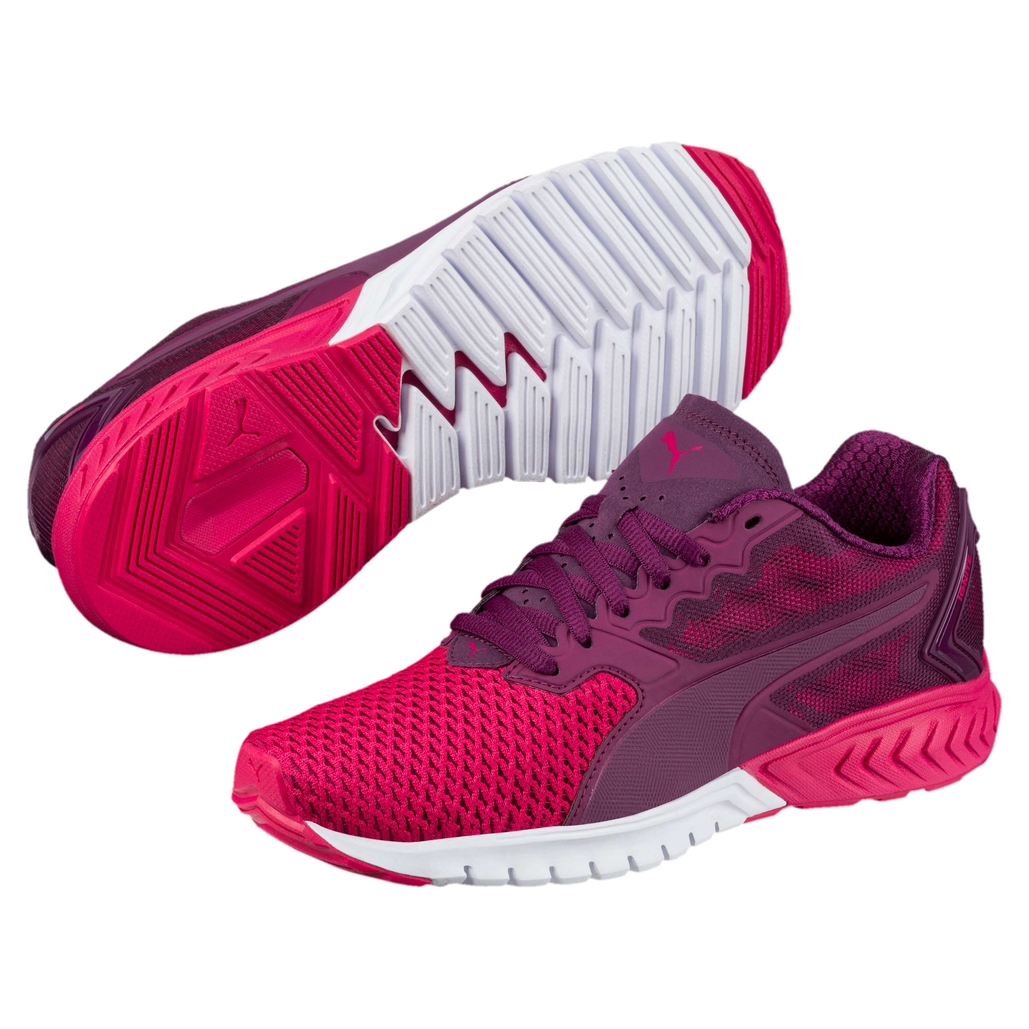 Thumbnail 2 of IGNITE Dual Mesh Women's Running Shoes, Dark Purple-Love Potion, medium-IND