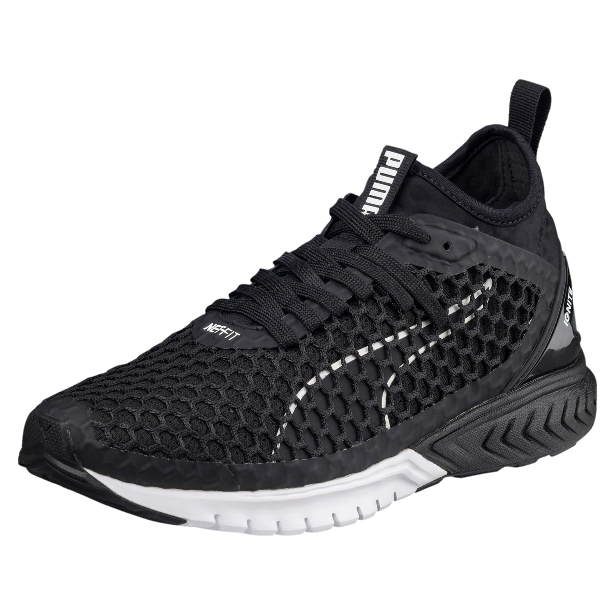 Thumbnail 1 of IGNITE Dual NETFIT Women's Running Shoes, Puma Black-Puma White, medium-IND