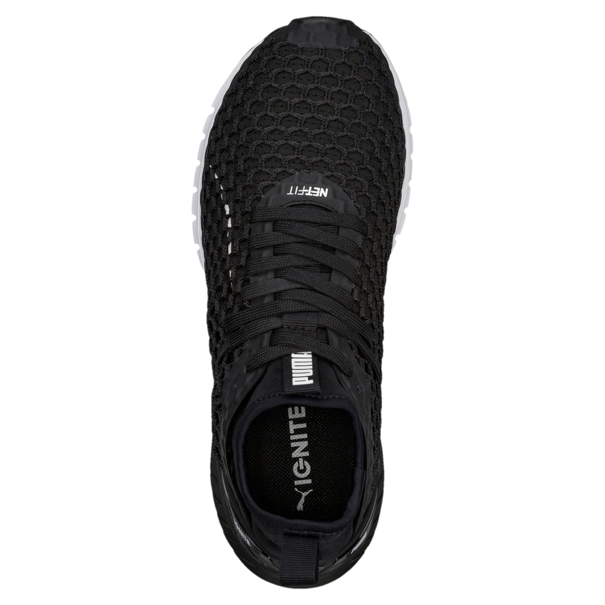 Thumbnail 5 of IGNITE Dual NETFIT Women's Running Shoes, Puma Black-Puma White, medium-IND
