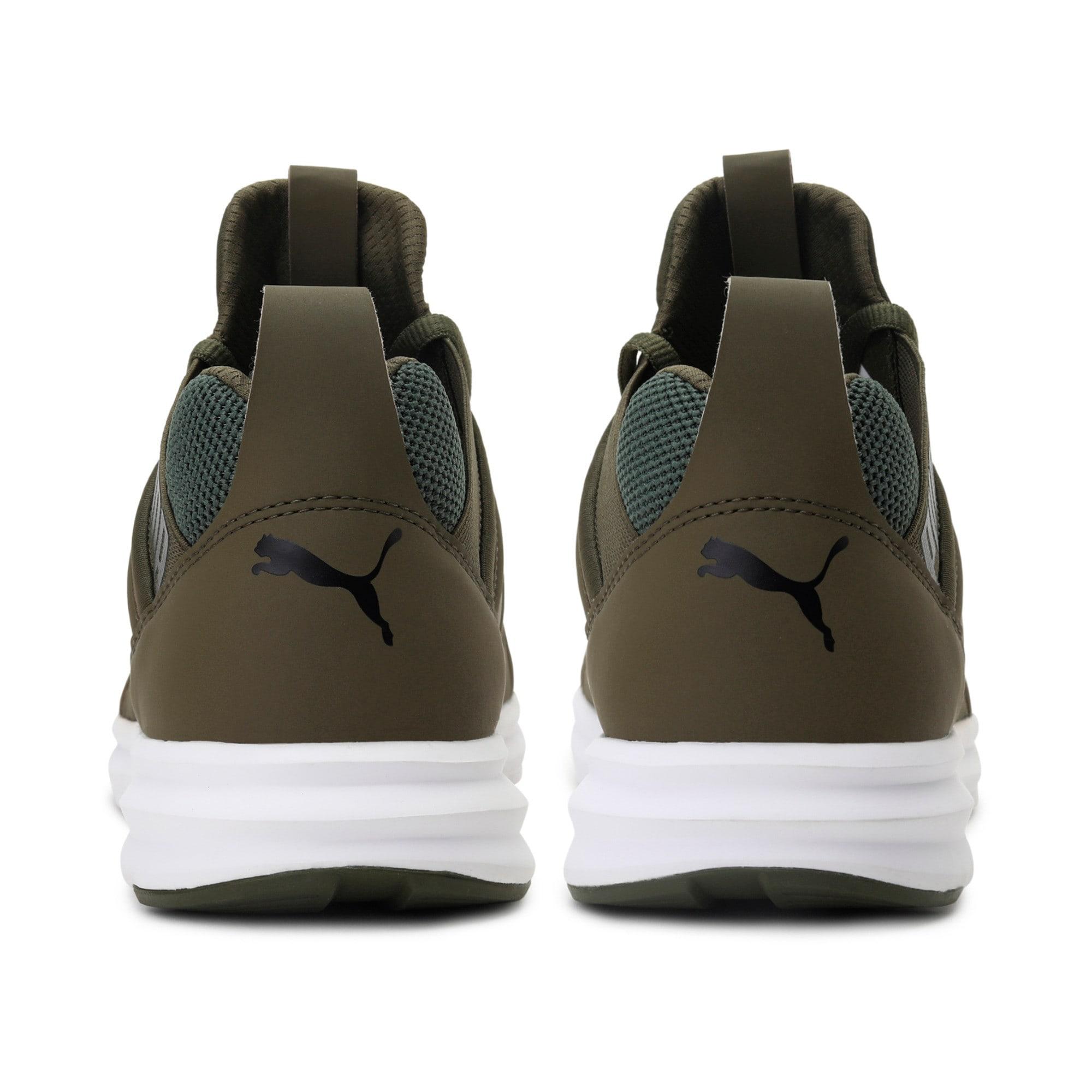 Thumbnail 3 of Enzo Mesh Men's Running Shoes, Olive Night-Puma White, medium-IND