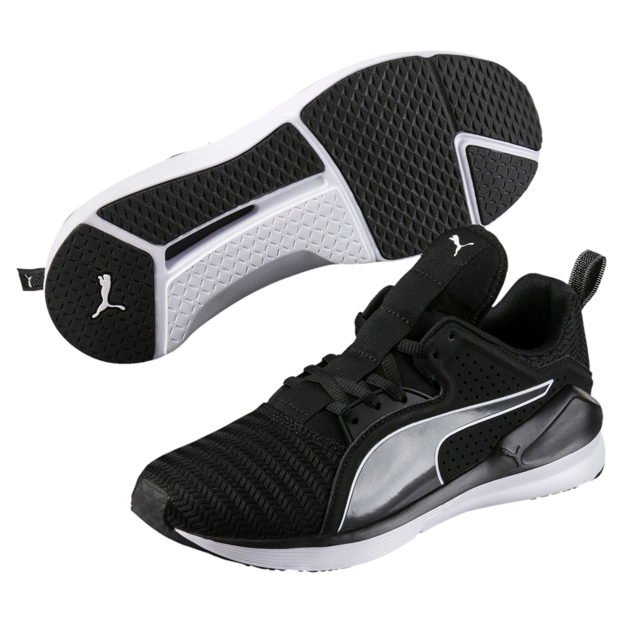 Thumbnail 2 of Fierce Lace Core Women's Training Shoes, Puma Black-Puma White, medium-IND