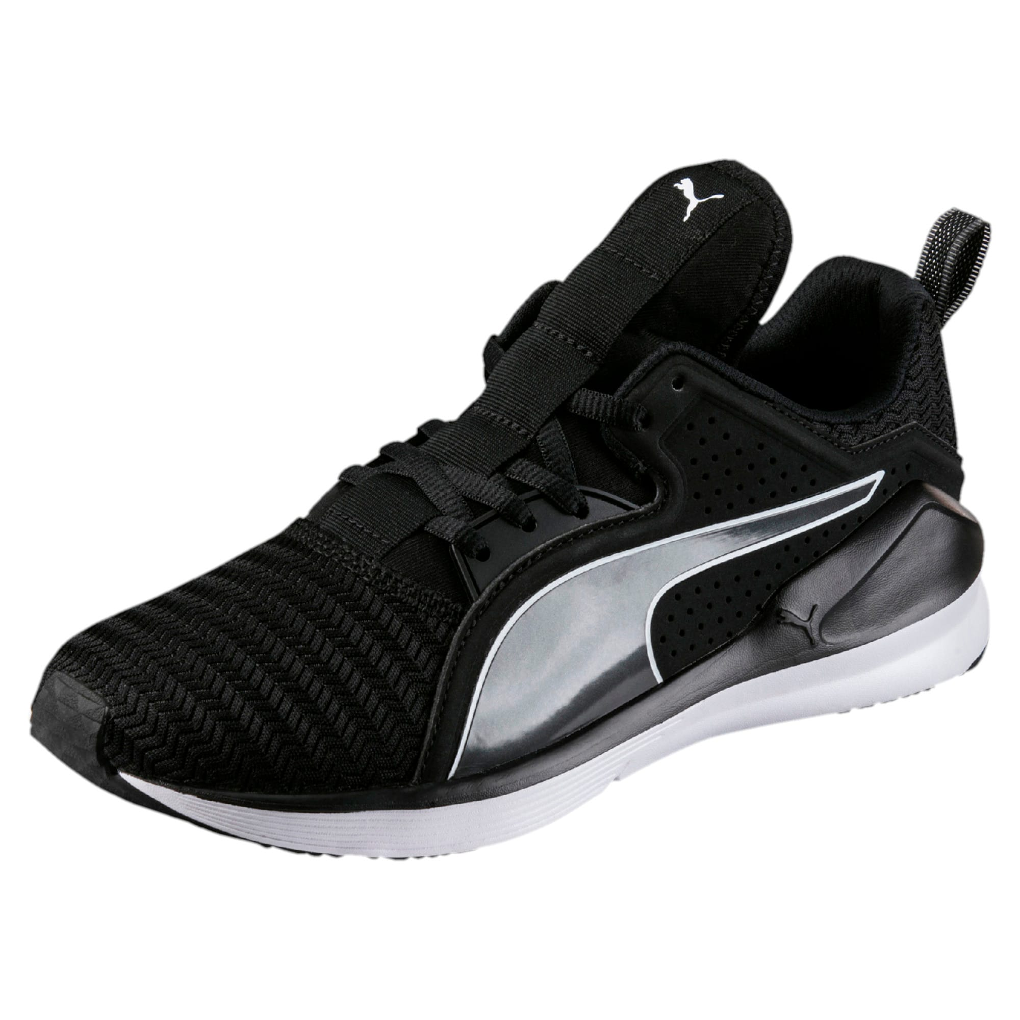Thumbnail 1 of Fierce Lace Core Women's Training Shoes, Puma Black-Puma White, medium-IND
