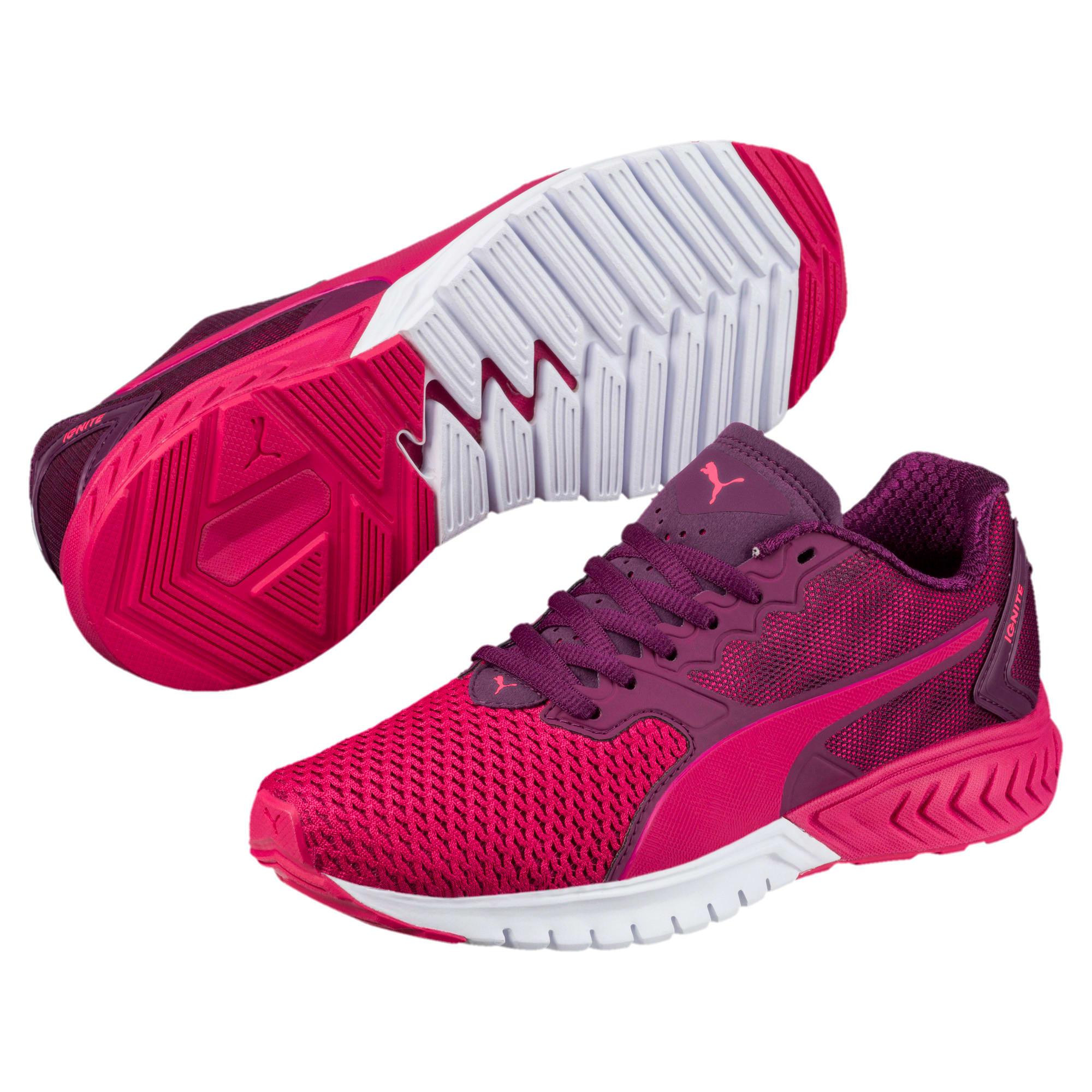 Thumbnail 2 of IGNITE Dual Mesh Kids' Running Shoes, Love Potion-Dark Purple, medium-IND