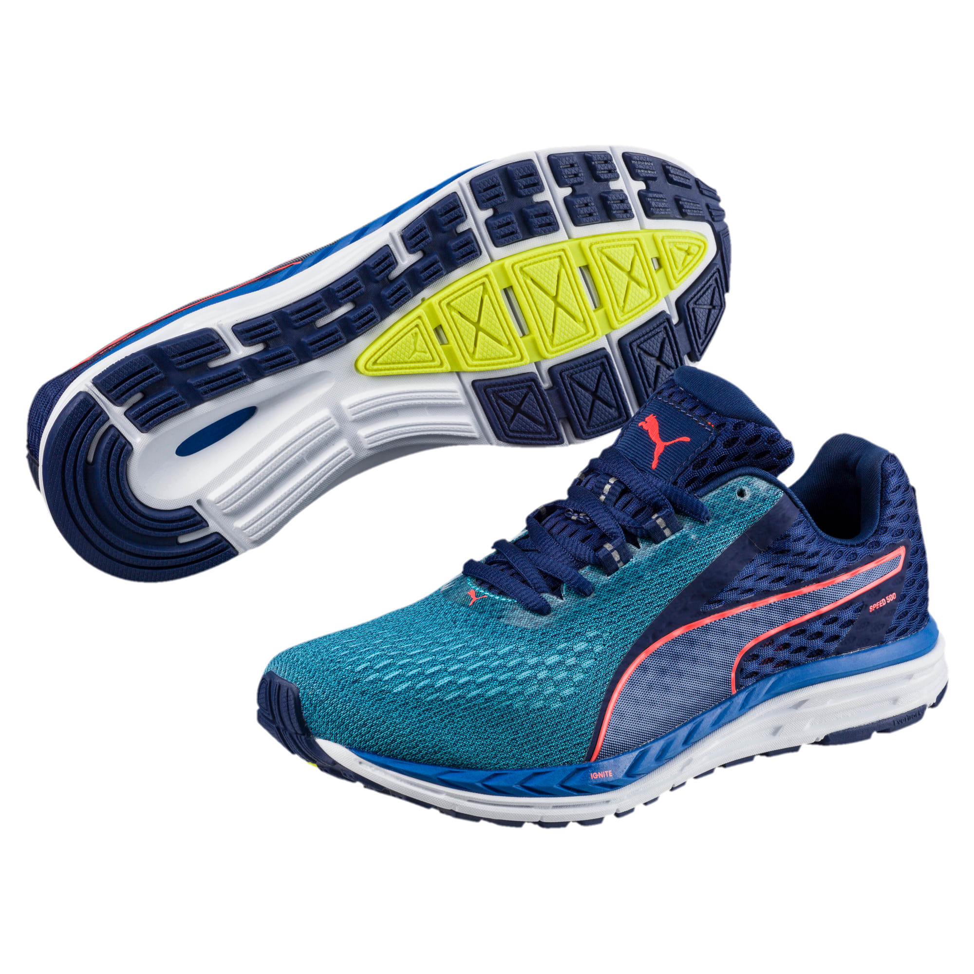 Thumbnail 2 of Speed 500 IGNITE 2 Kids' Running Shoes, Nrgy Turquoise-Blue Depths, medium-IND