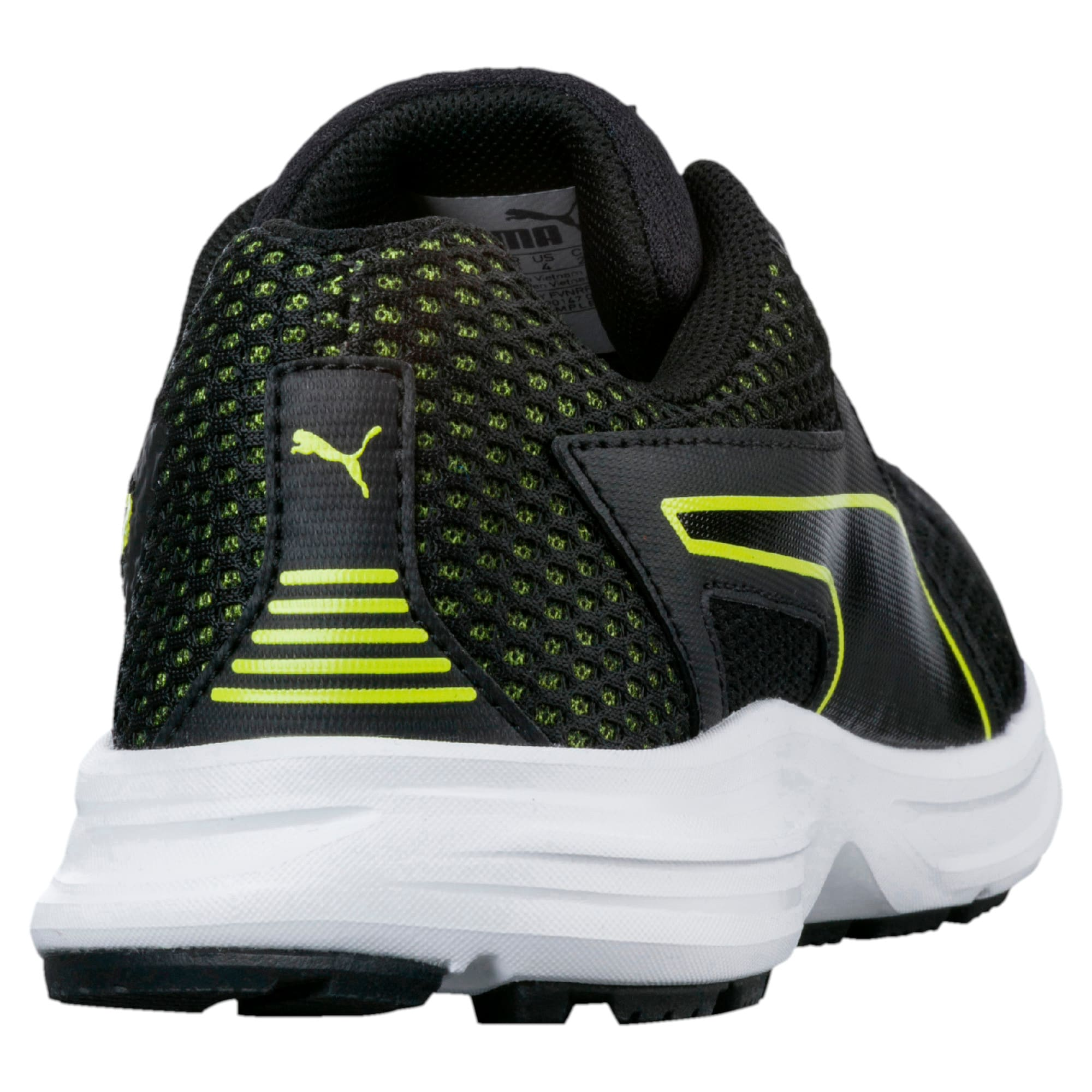 Thumbnail 4 of Essential Runner Kids' Running Shoes, Puma Black-Nrgy Yellow, medium-IND