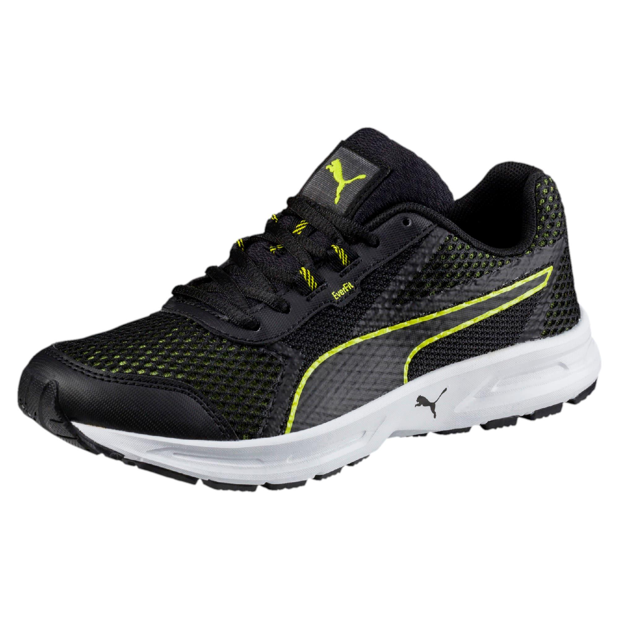 Thumbnail 1 of Essential Runner Kids' Running Shoes, Puma Black-Nrgy Yellow, medium-IND